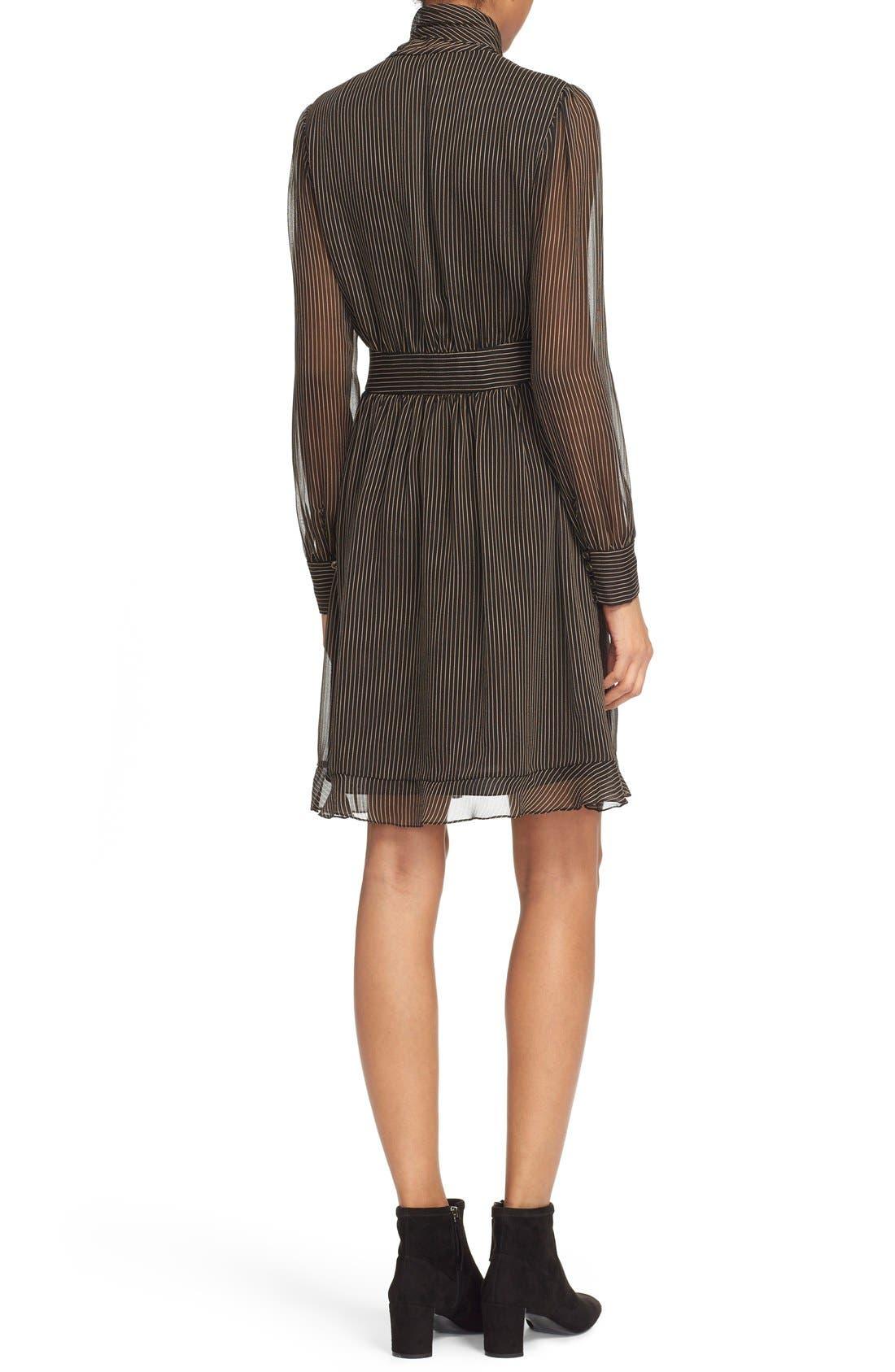 Alternate Image 2  - Diane von Furstenberg 'Arabella' Pinstripe Silk Dress