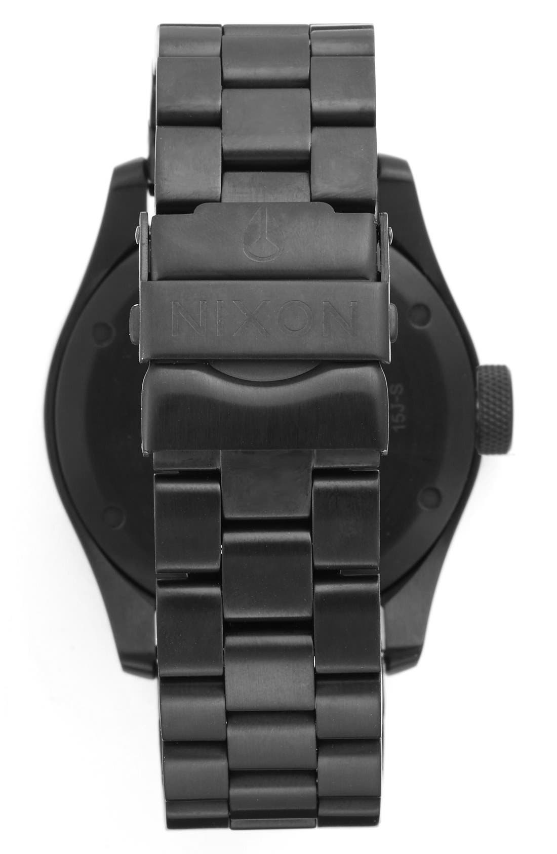 'Safari' Bracelet Watch, 43mm,                             Alternate thumbnail 2, color,                             Black