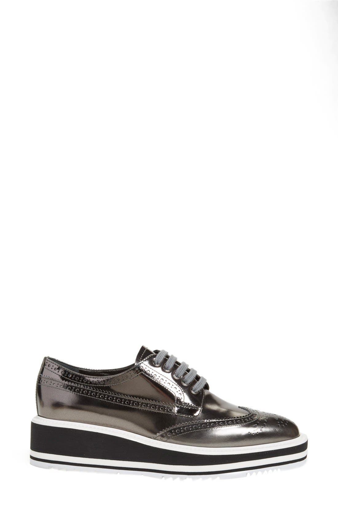 Winged Oxford,                             Alternate thumbnail 4, color,                             Metallic Silver