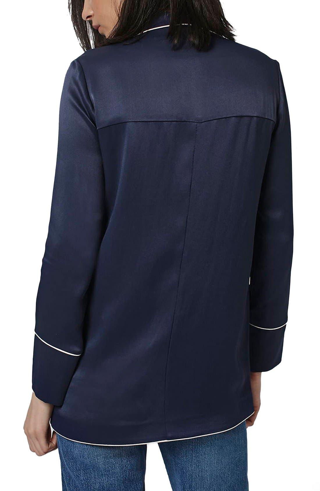 Alternate Image 3  - Topshop Satin Pajama Style Jacket