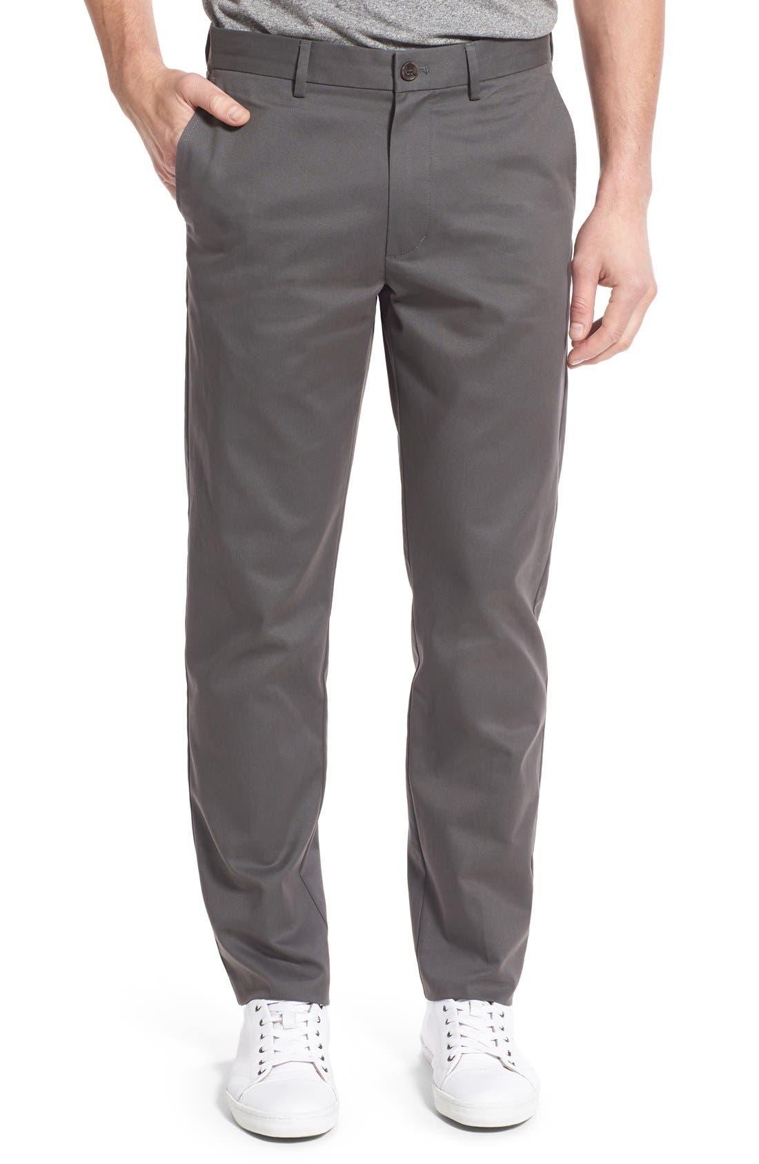 Alternate Image 1 Selected - Nordstrom Men's Shop Smartcare™ Slim Leg Twill Pants