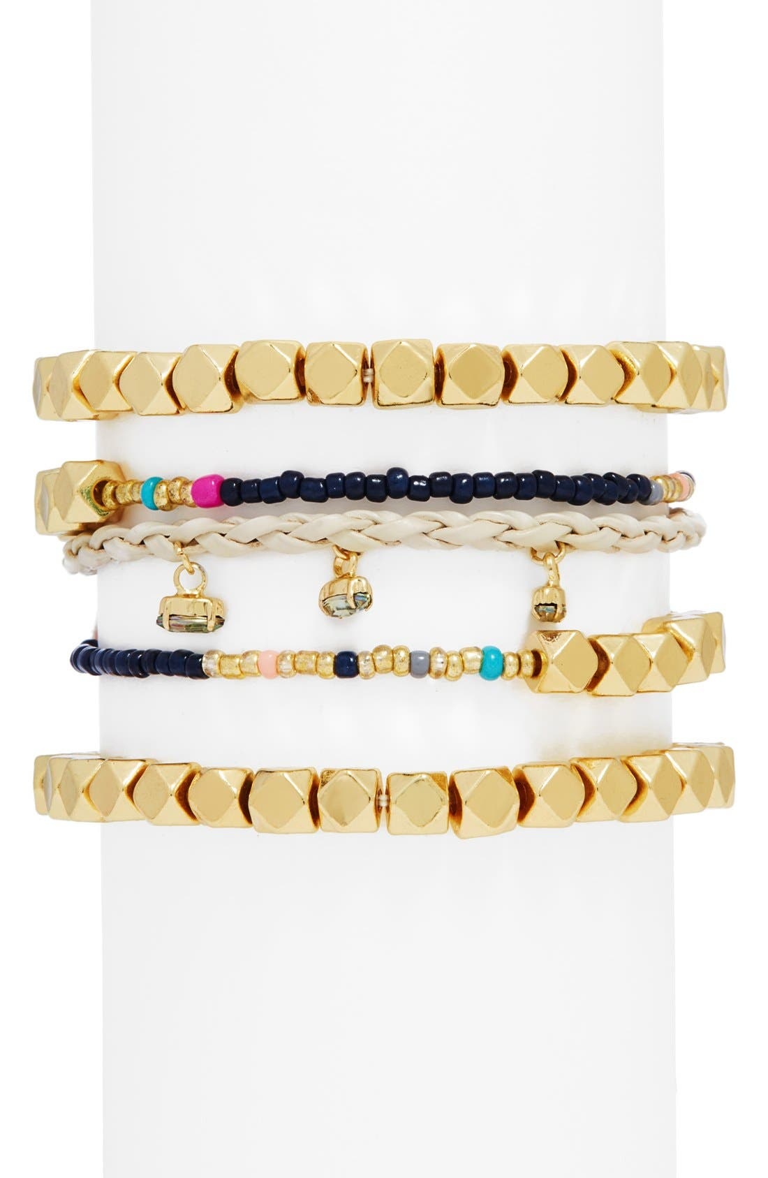 Main Image - BaubleBar 'Barbados' Beaded Bracelets (Set of 5)