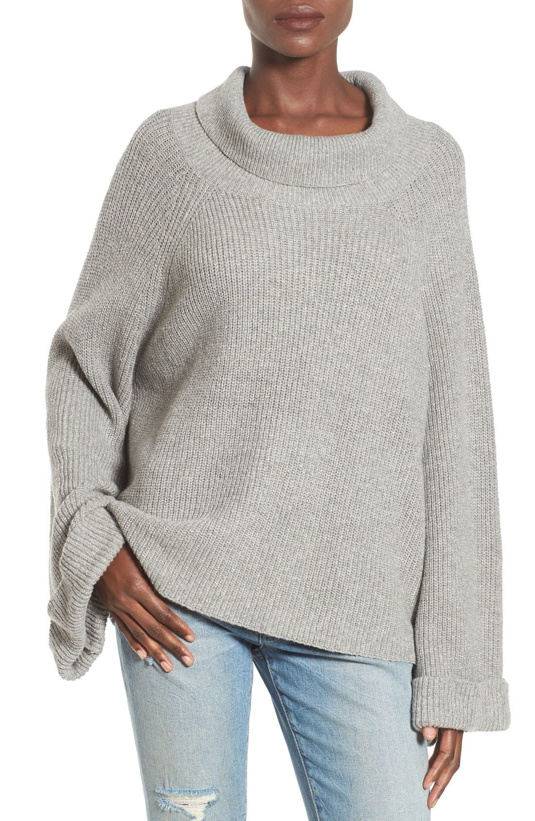 Main Image - Leith Cowl Neck Shaker Pullover