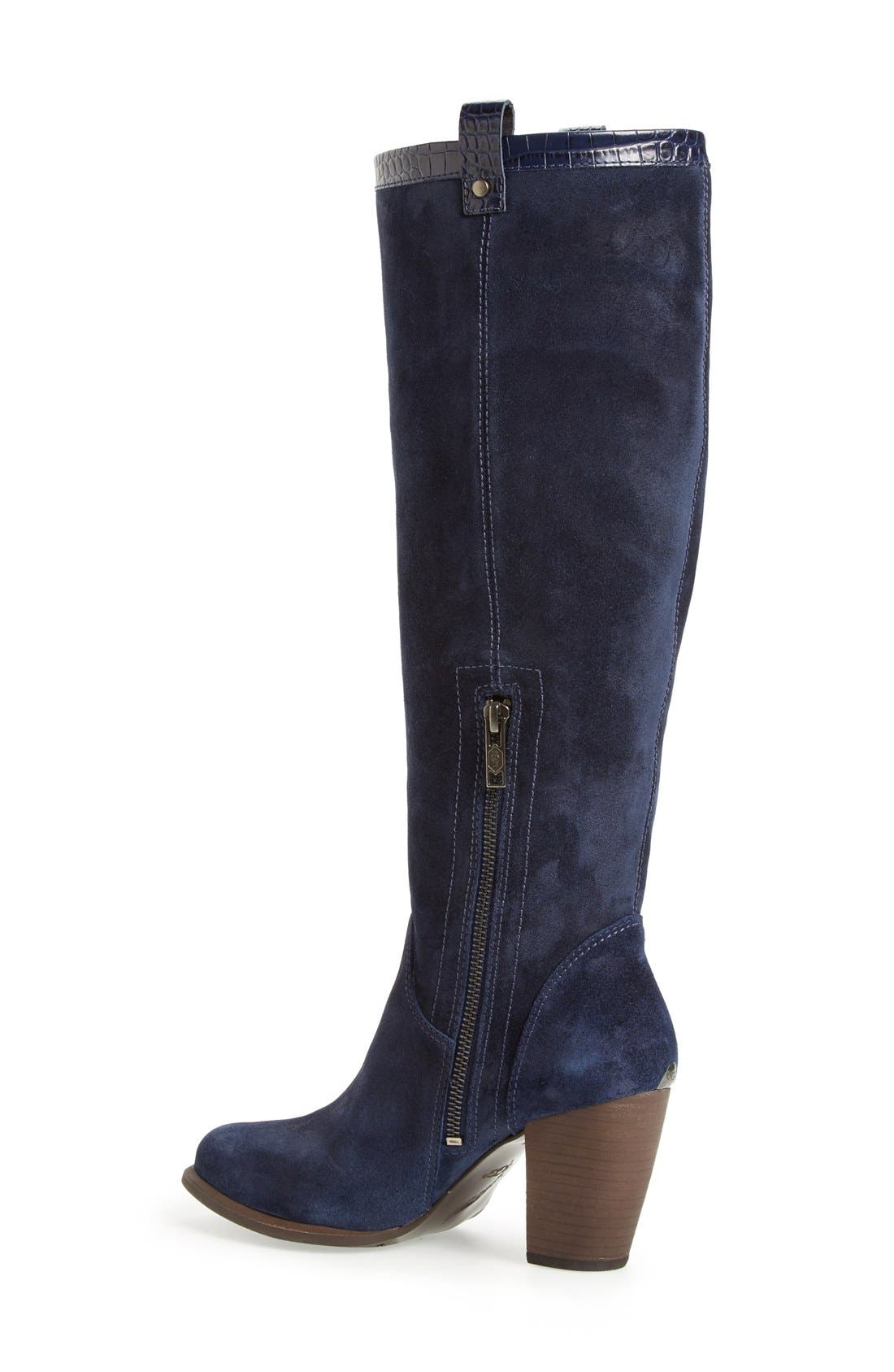 Alternate Image 2  - UGG® 'Ava Croco' Tall Suede Boot (Women)