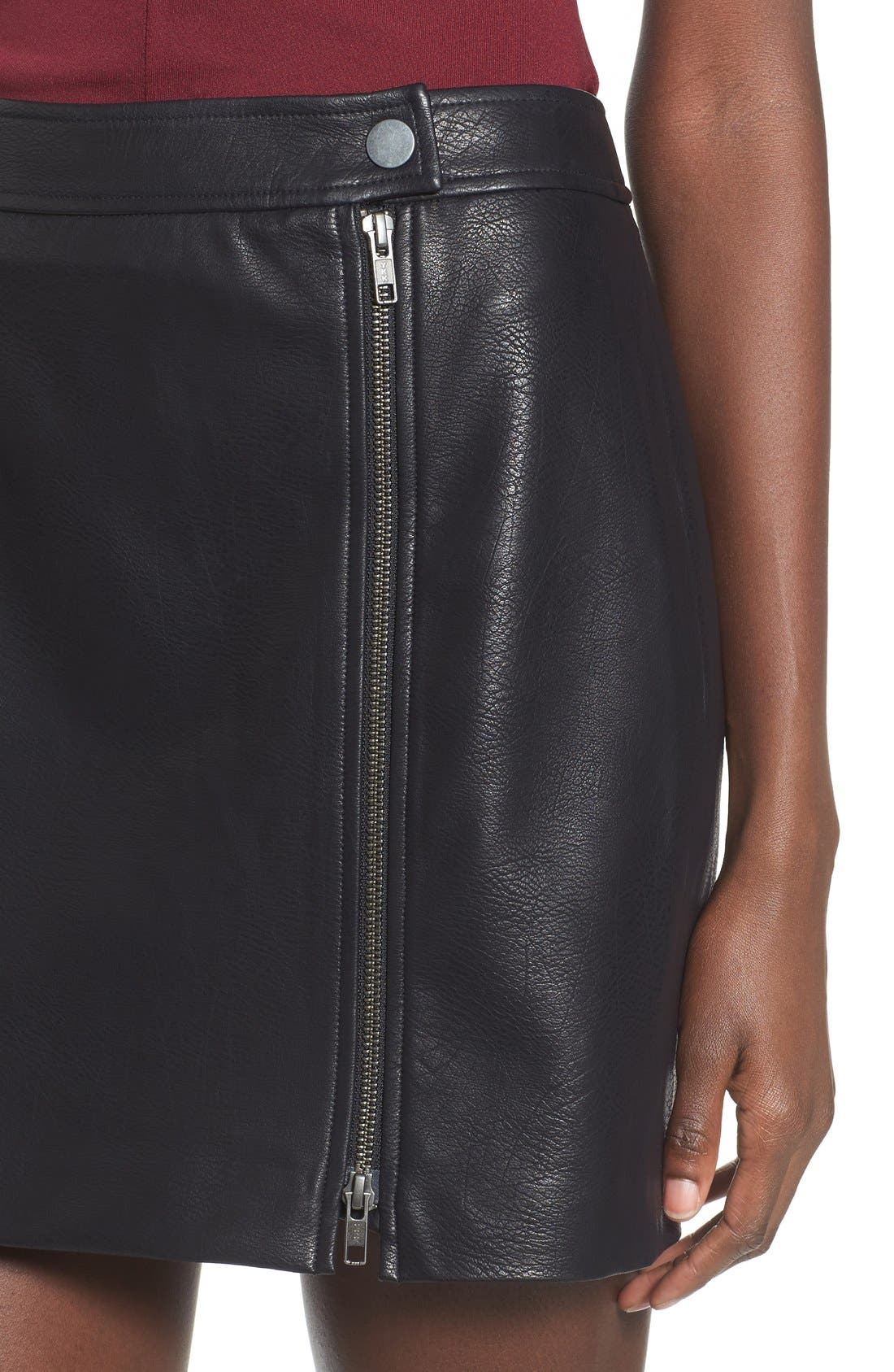 Alternate Image 4  - Leith Faux Leather Skirt
