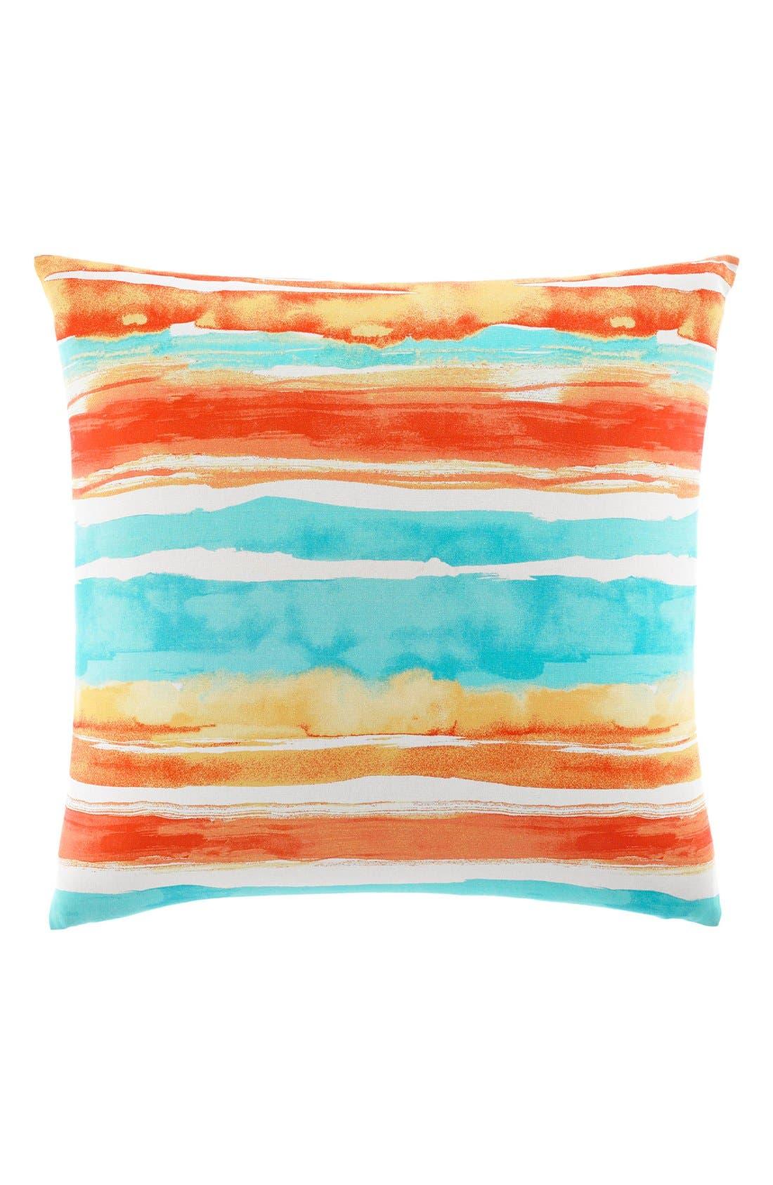 'Watercolor Stripe' Pillow,                         Main,                         color, Sunset Orange