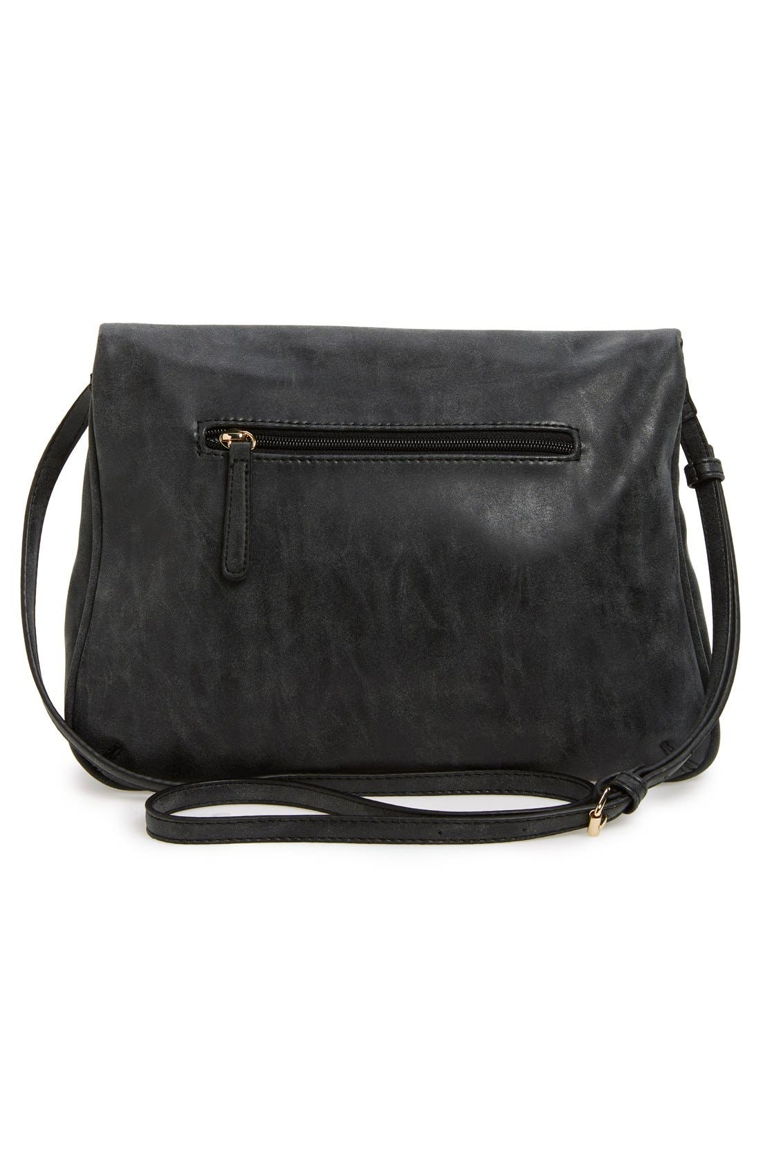 Alternate Image 3  - Emperia 'Layla' Faux Leather Tassel Flap Crossbody Bag