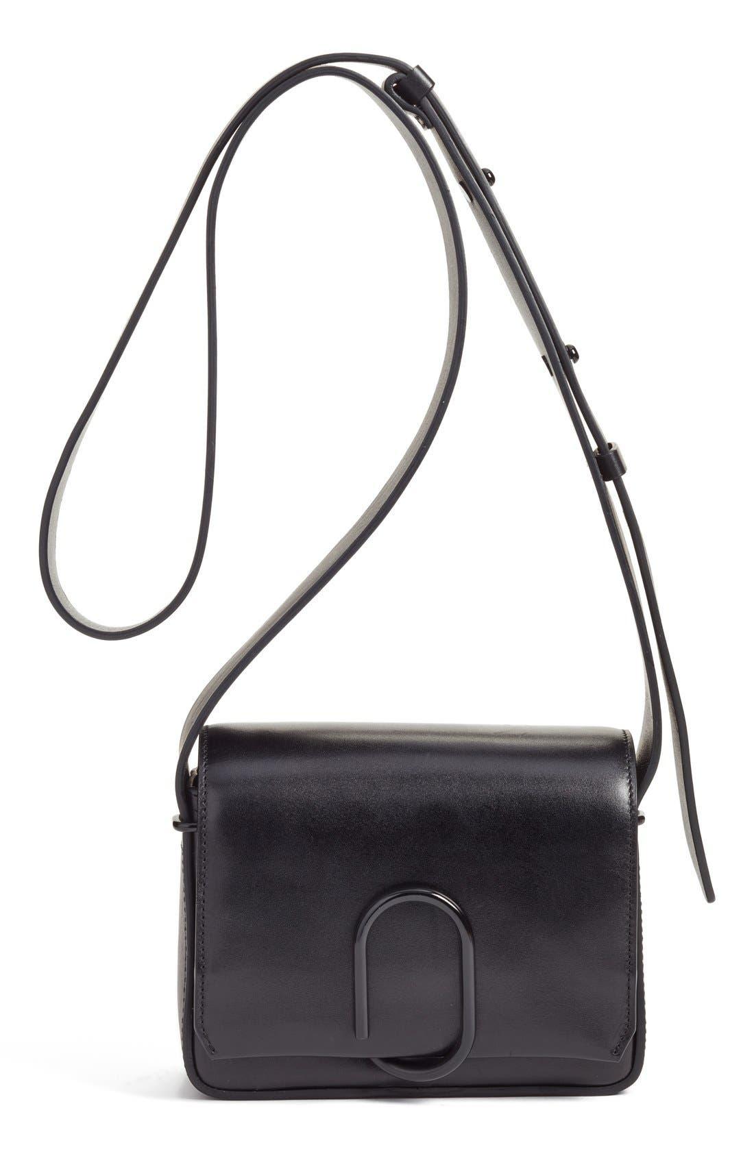 'Mini Alix' Leather Shoulder Bag,                         Main,                         color, Black
