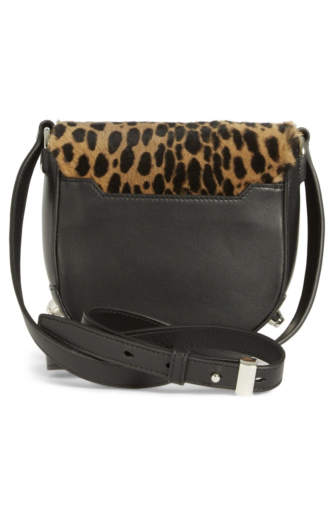 Alternate Image 4  - Alexander Wang 'Mini Lia' Cheetah Print Genuine Kangaroo Fur Crossbody Bag