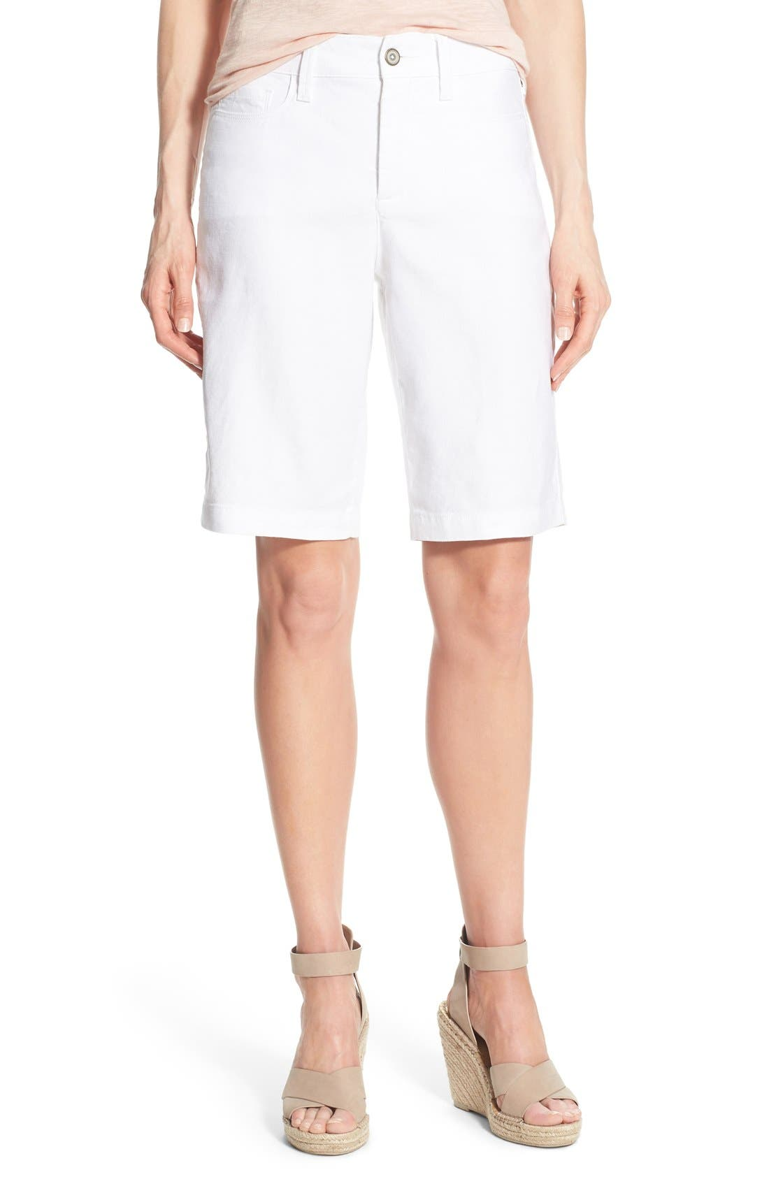 NYDJ Catherine Linen Blend Bermuda Shorts (Regular & Petite)
