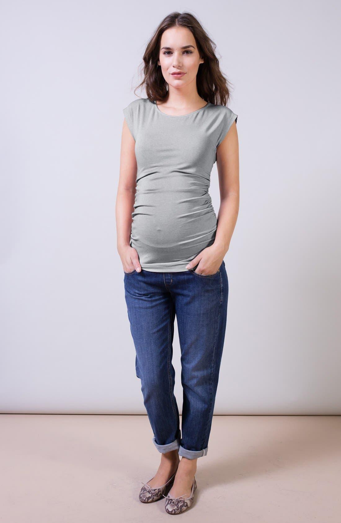 Alternate Image 3  - Isabella Oliver Relaxed Maternity Jeans (Washed Indigo)
