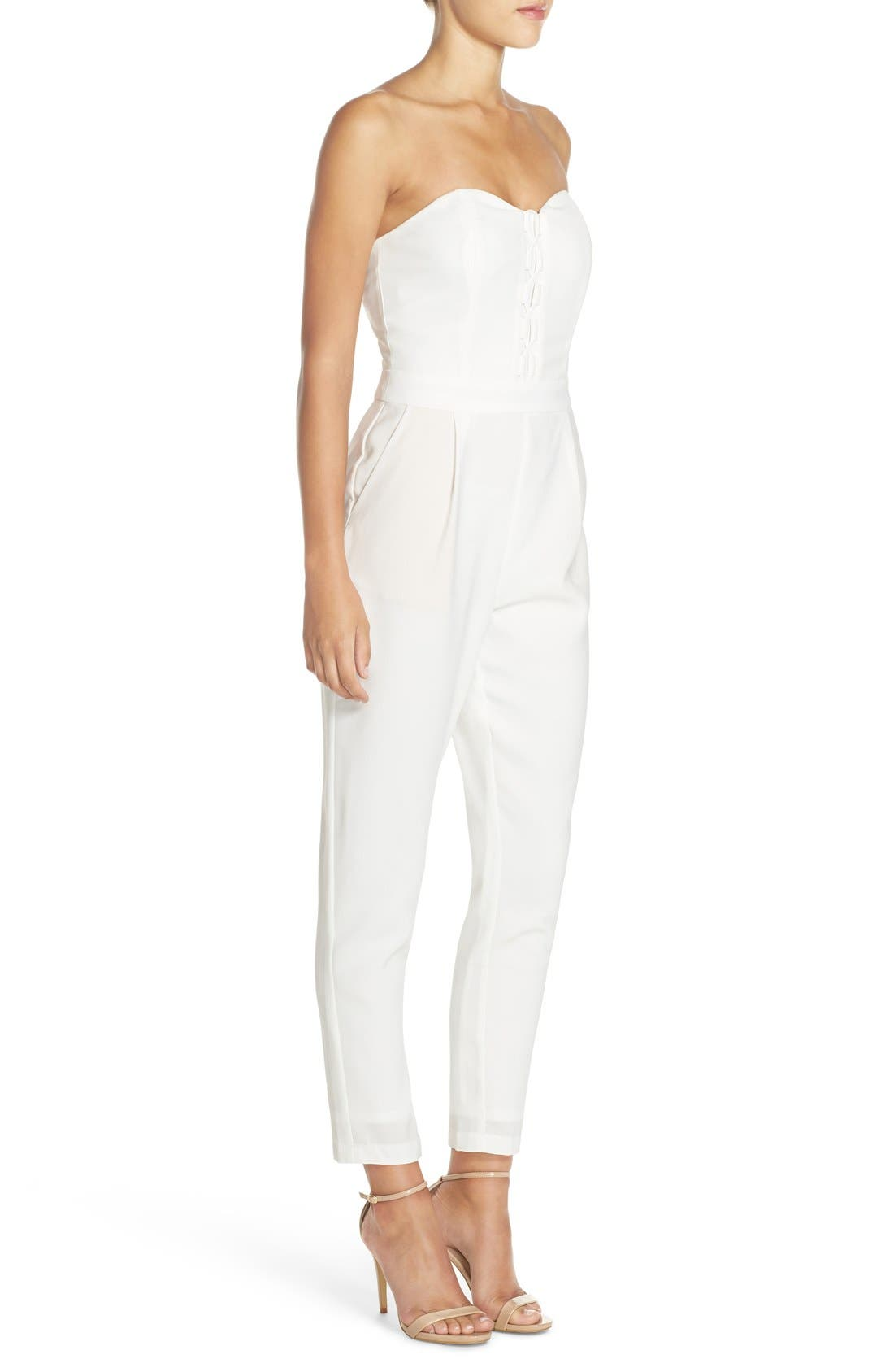 Alternate Image 3  - Adelyn Rae Strapless Lace-Up Jumpsuit
