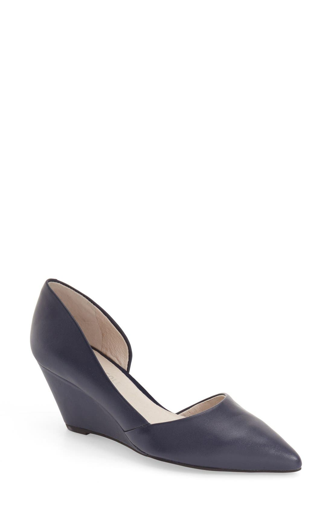 Main Image - Kenneth Cole New York 'Ellis' Half d'Orsay Wedge Pump