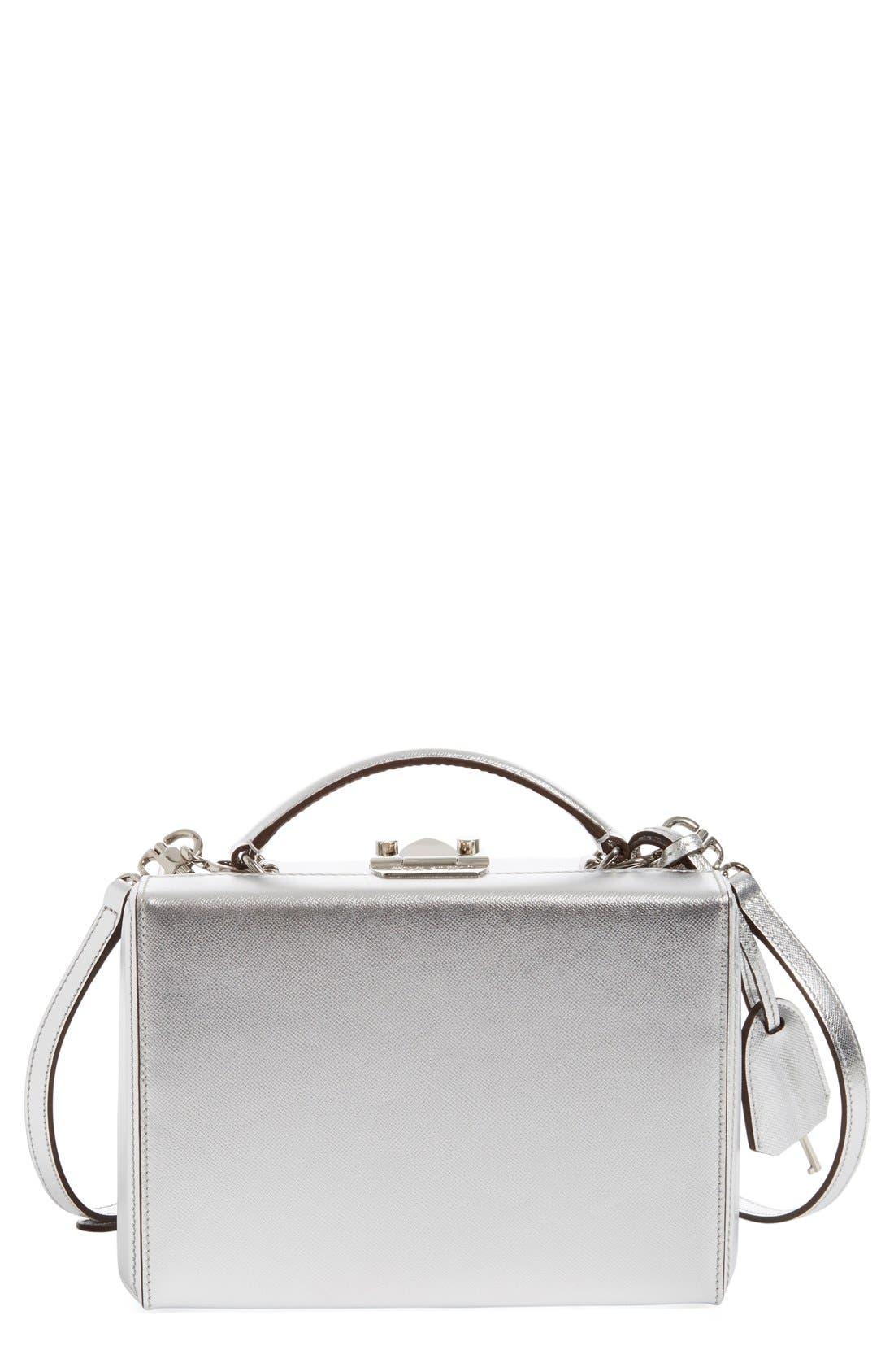 Alternate Image 1 Selected - Mark Cross 'Small Grace' Metallic Saffiano Leather Box Clutch