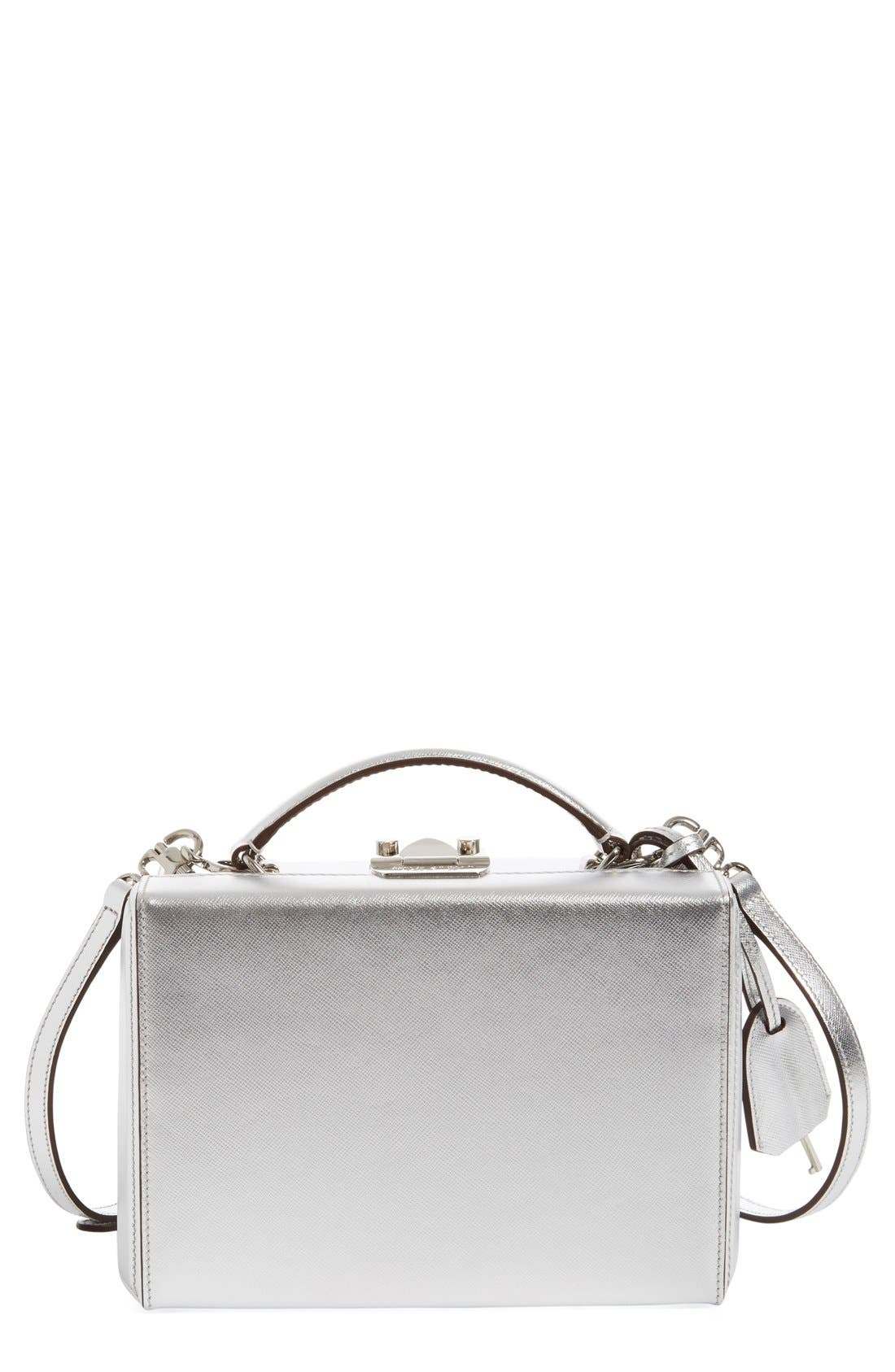 Main Image - Mark Cross 'Small Grace' Metallic Saffiano Leather Box Clutch