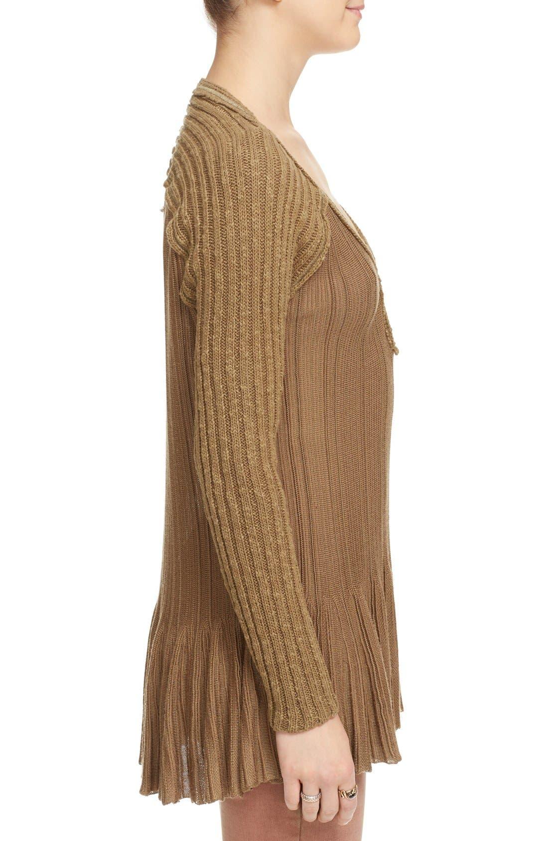 Alternate Image 3  - Free People 'Ribs & Ruffles' Knit Peplum Sweater