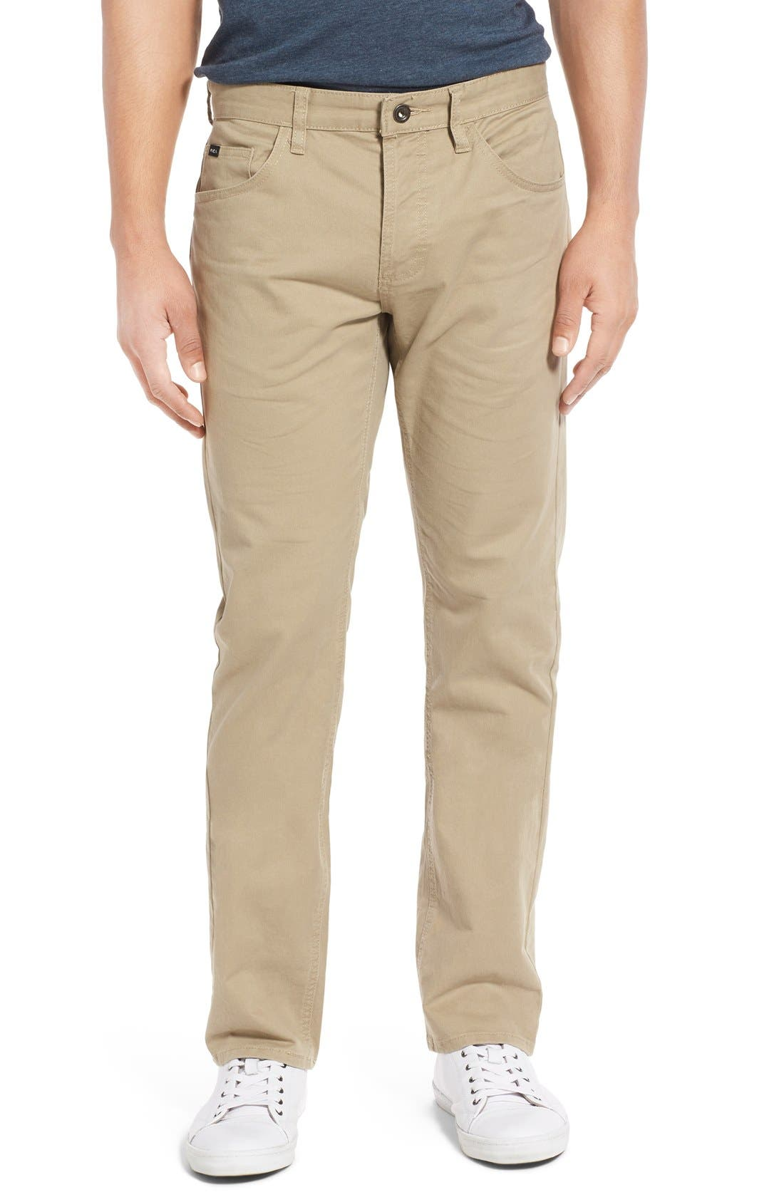RVCA 'Stay RVCA' Slim Straight Pants (Online Only)