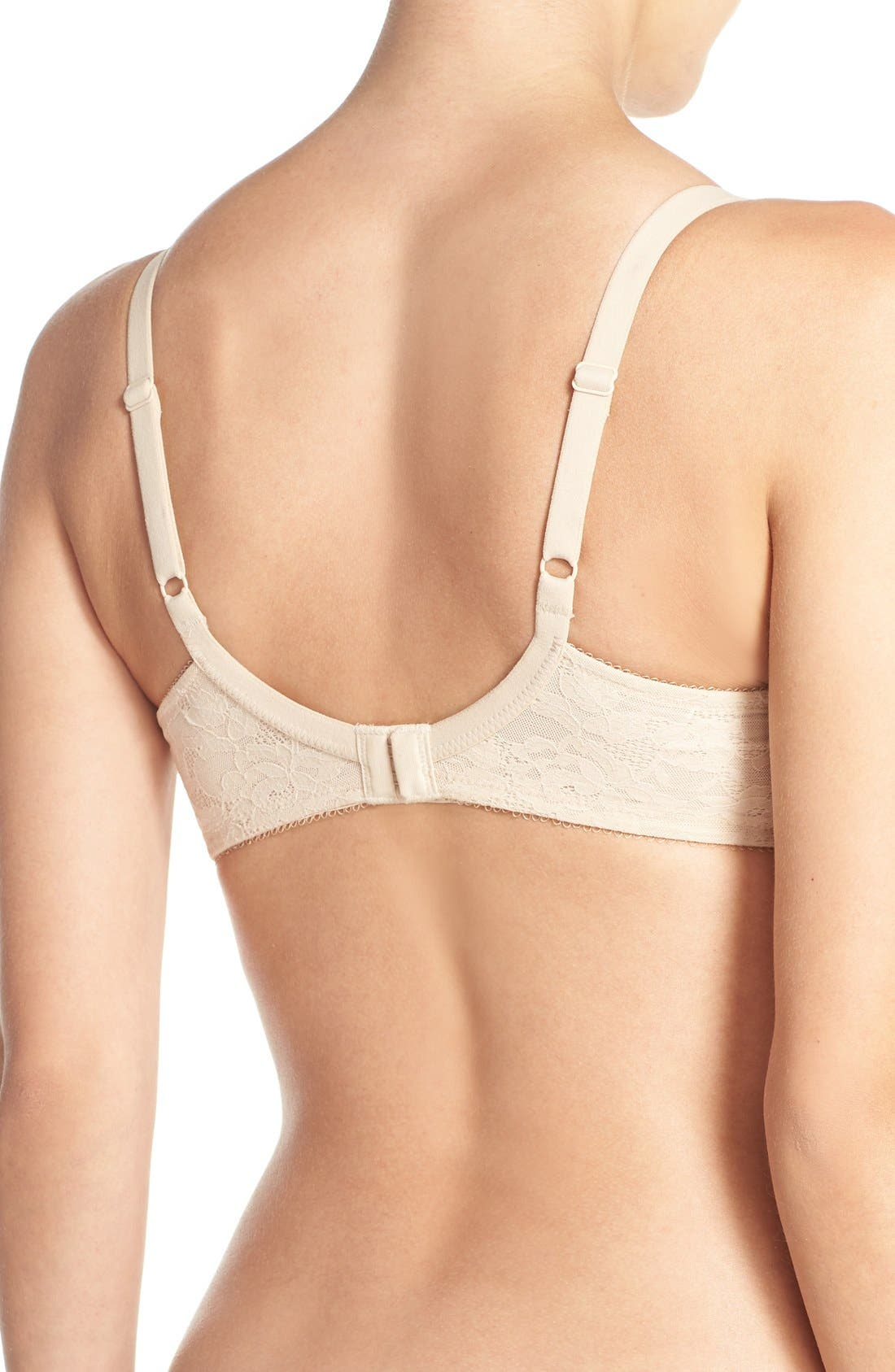 Finesse Molded Underwire T-Shirt Bra,                             Alternate thumbnail 2, color,                             Naturally Nude