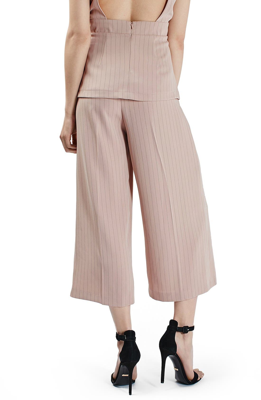 Alternate Image 3  - Topshop Pinstripe Wide Leg Crop Pants