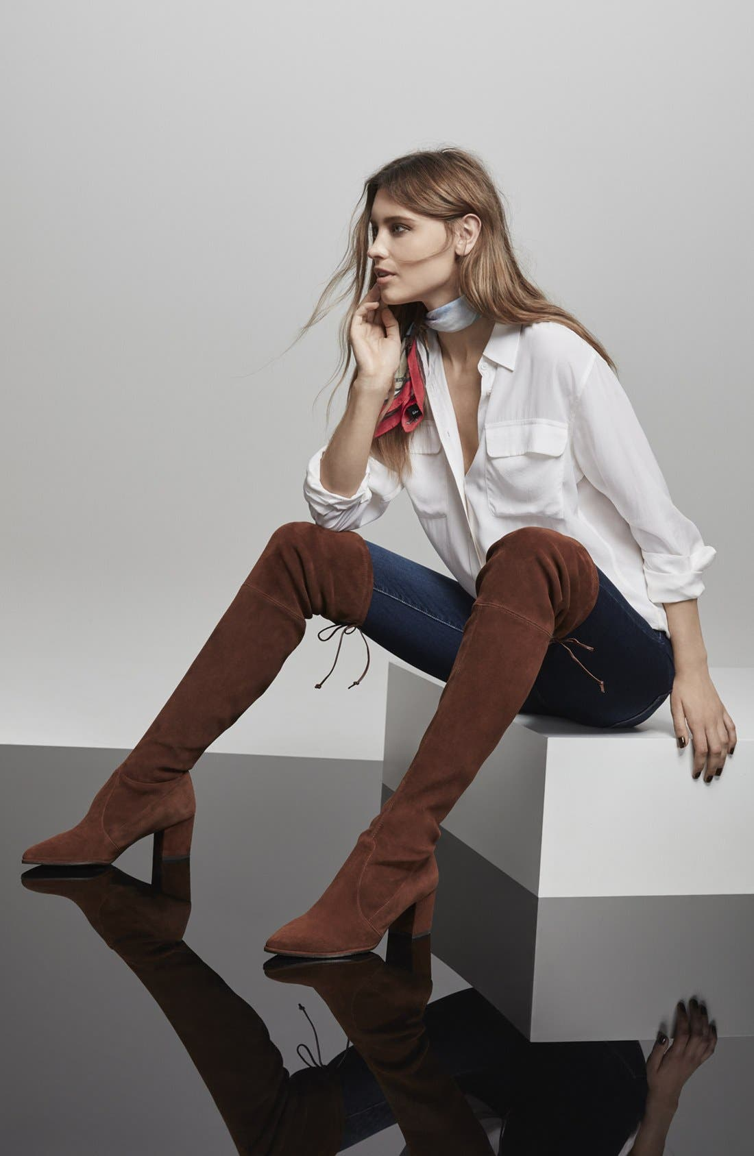 Thighland Over the Knee Boot,                             Alternate thumbnail 6, color,