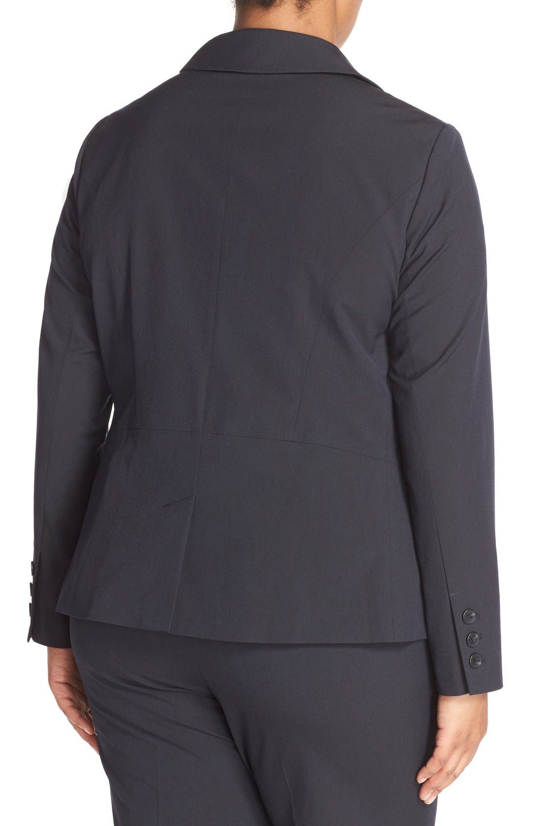 Alternate Image 2  - Sejour 'Ela Two-Button Stretch Suit Jacket (Plus Size & Petite Plus)