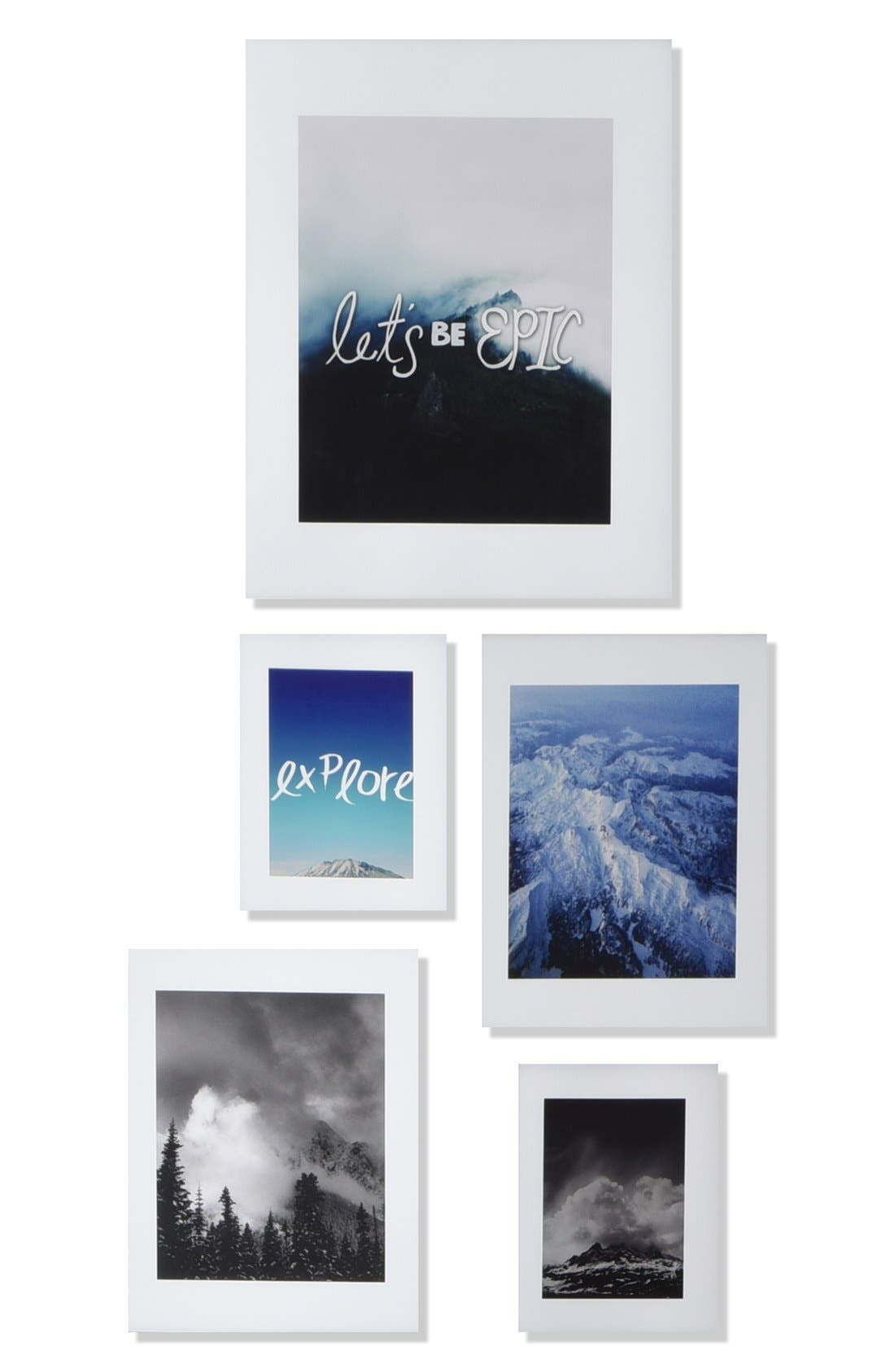 'Let's Be Epic' Wall Art Gallery,                             Main thumbnail 1, color,                             White