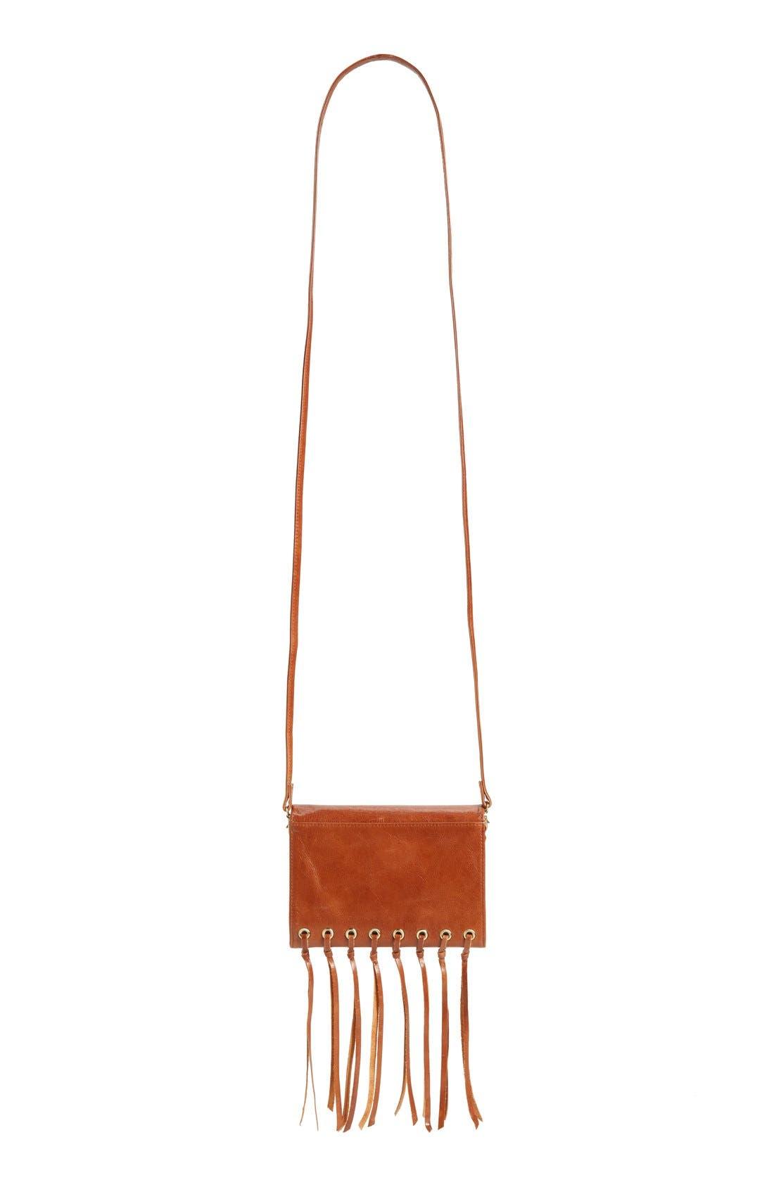 Alternate Image 4  - Hobo 'Maisy' Glazed Leather Fringe Crossbody Bag
