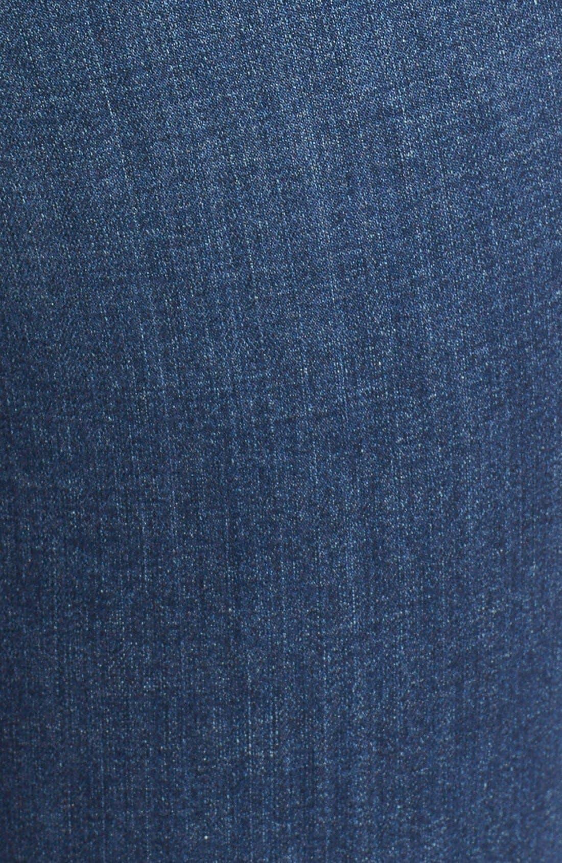 '30' High Rise Skinny Jeans,                             Alternate thumbnail 5, color,                             Dark Vintage