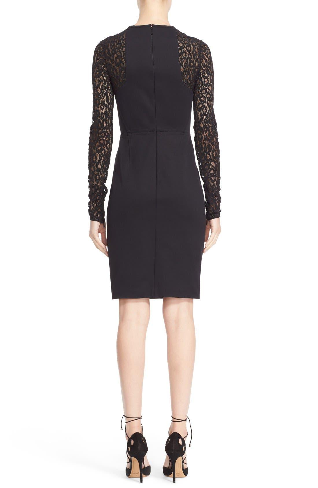 Alternate Image 2  - Roberto Cavalli Lace & Jersey Sheath Dress