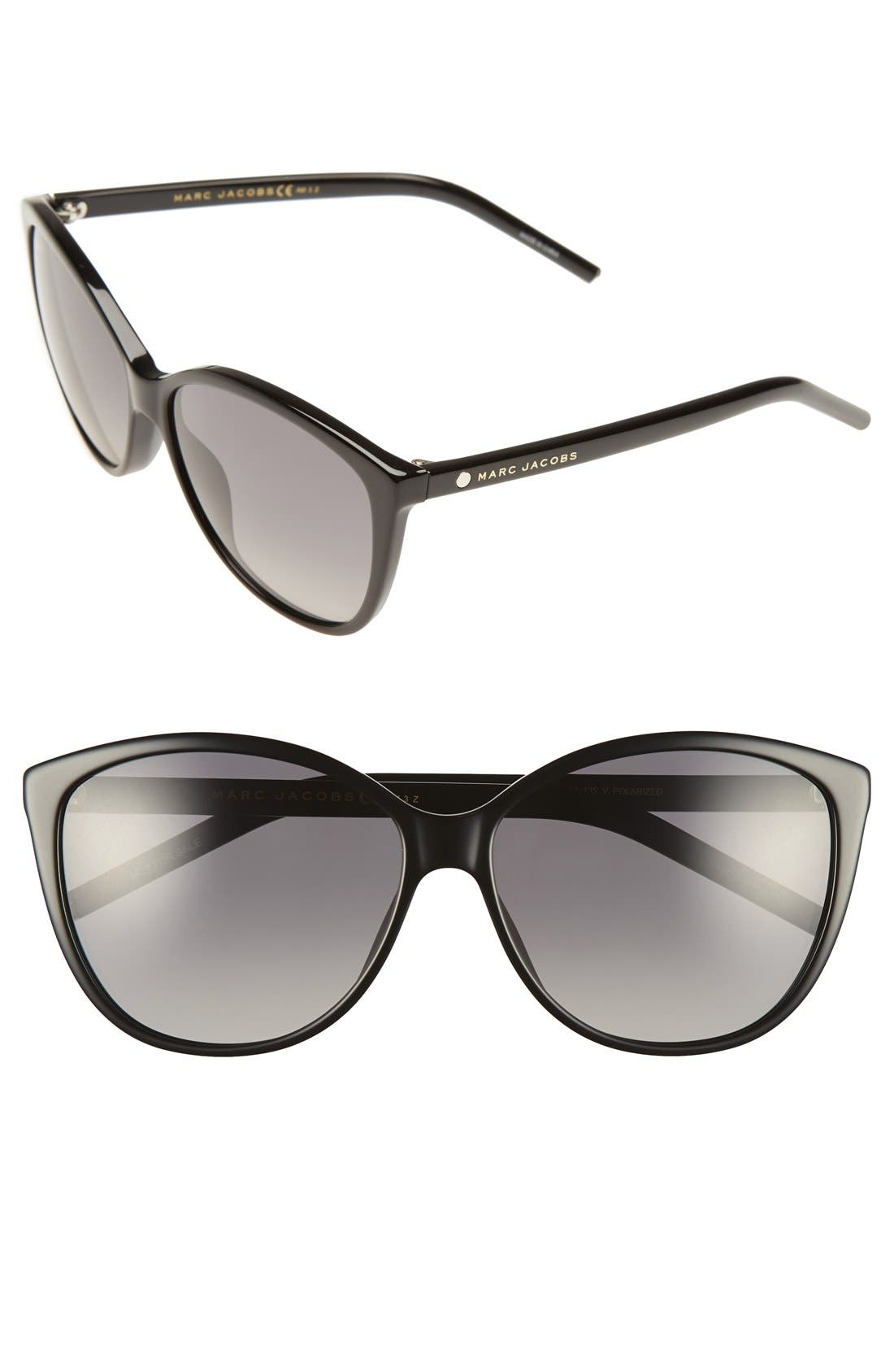Main Image - MARC JACOBS 58mm Polarized Butterfly Sunglasses