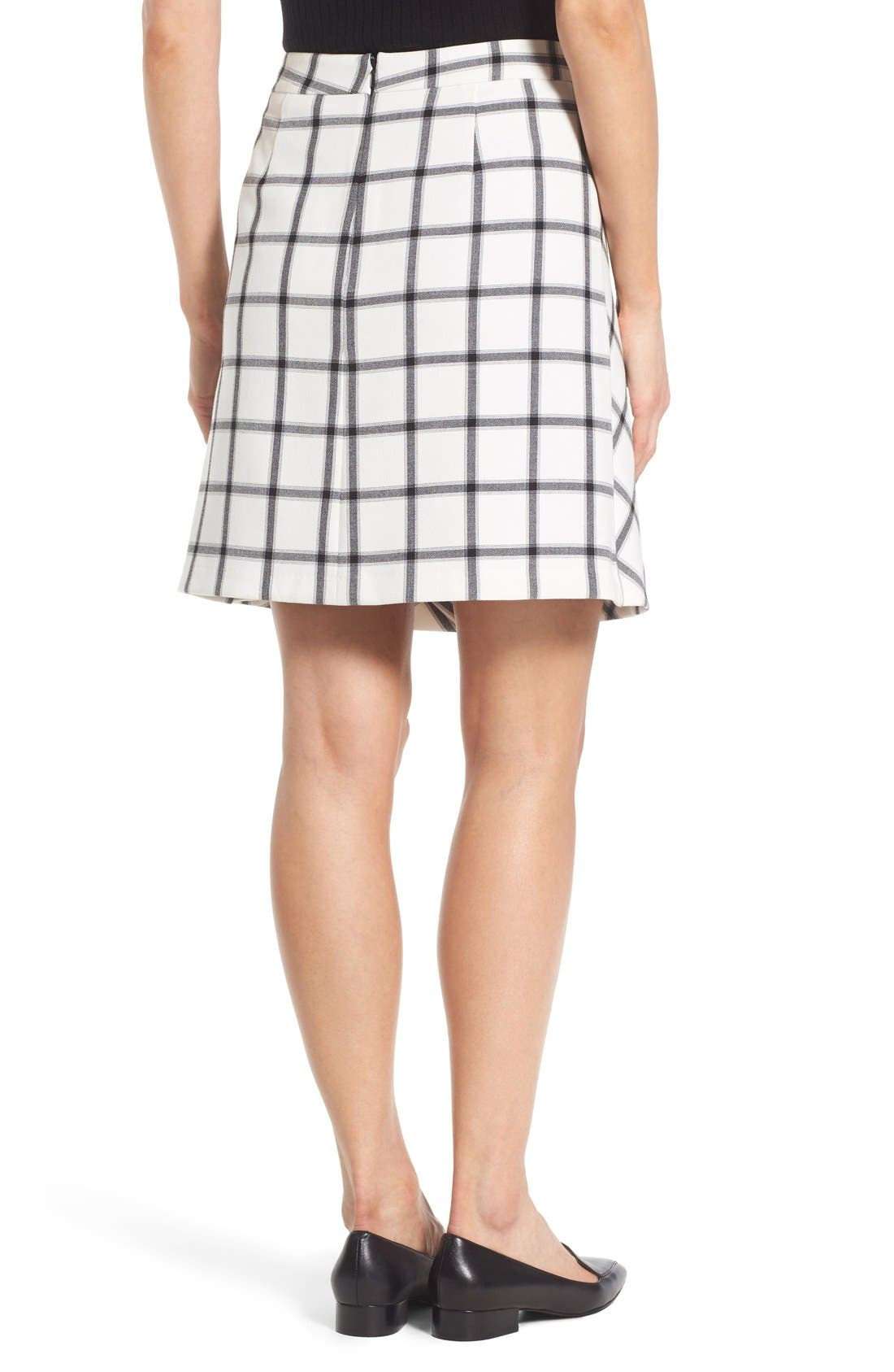 Alternate Image 3  - Halogen® Pleat Detail A-Line Skirt (Regular & Petite)