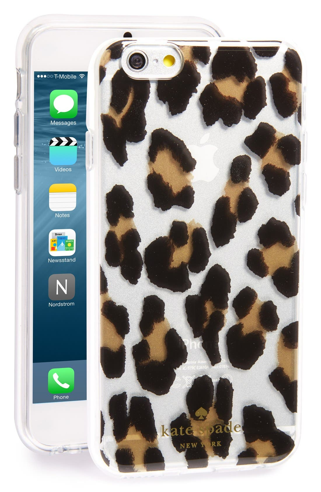 Alternate Image 1 Selected - kate spade new york leopard iPhone 6/6s case