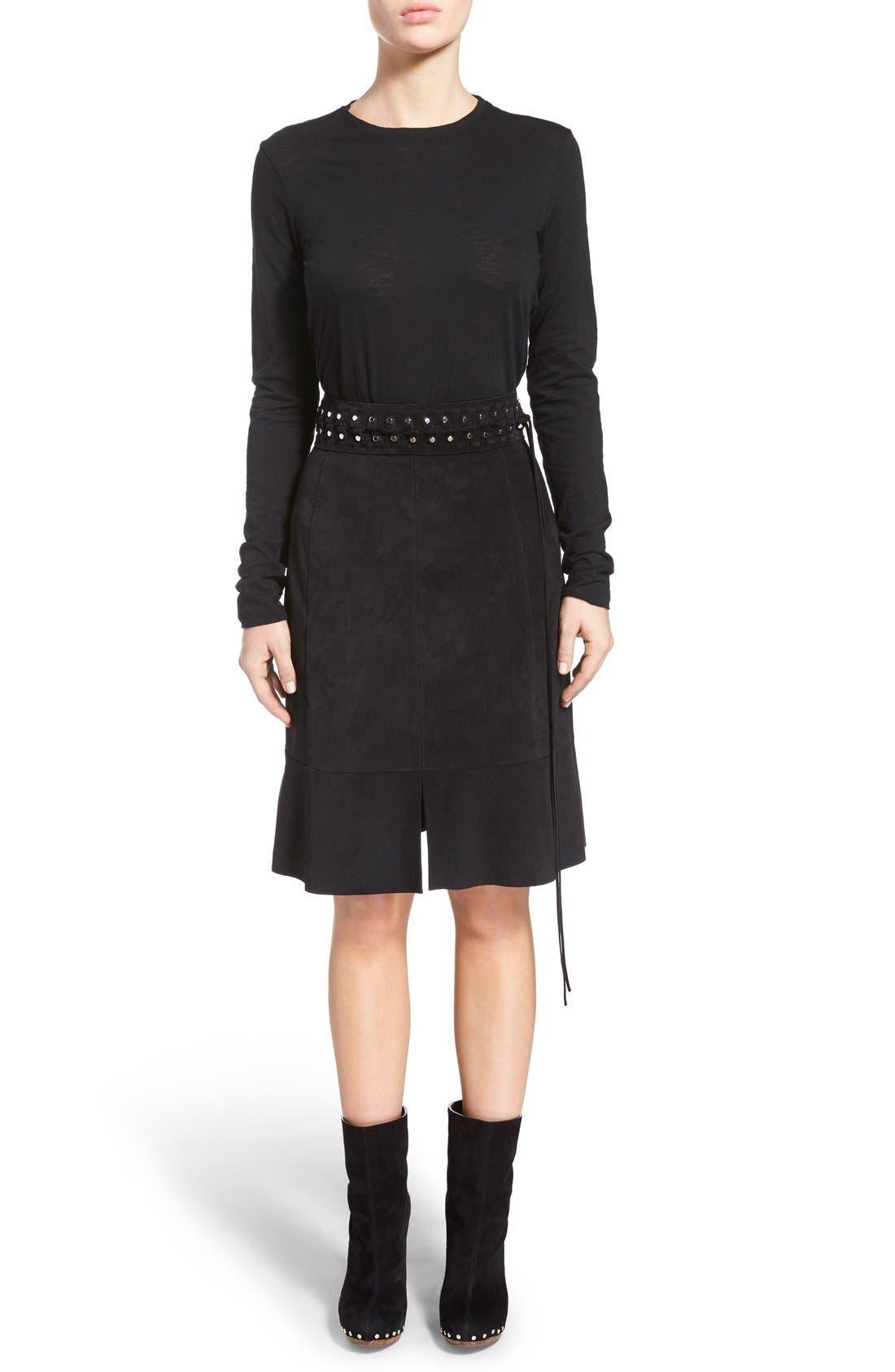 Alternate Image 1 Selected - Proenza Schouler Tissue Jersey Long Sleeve Tee