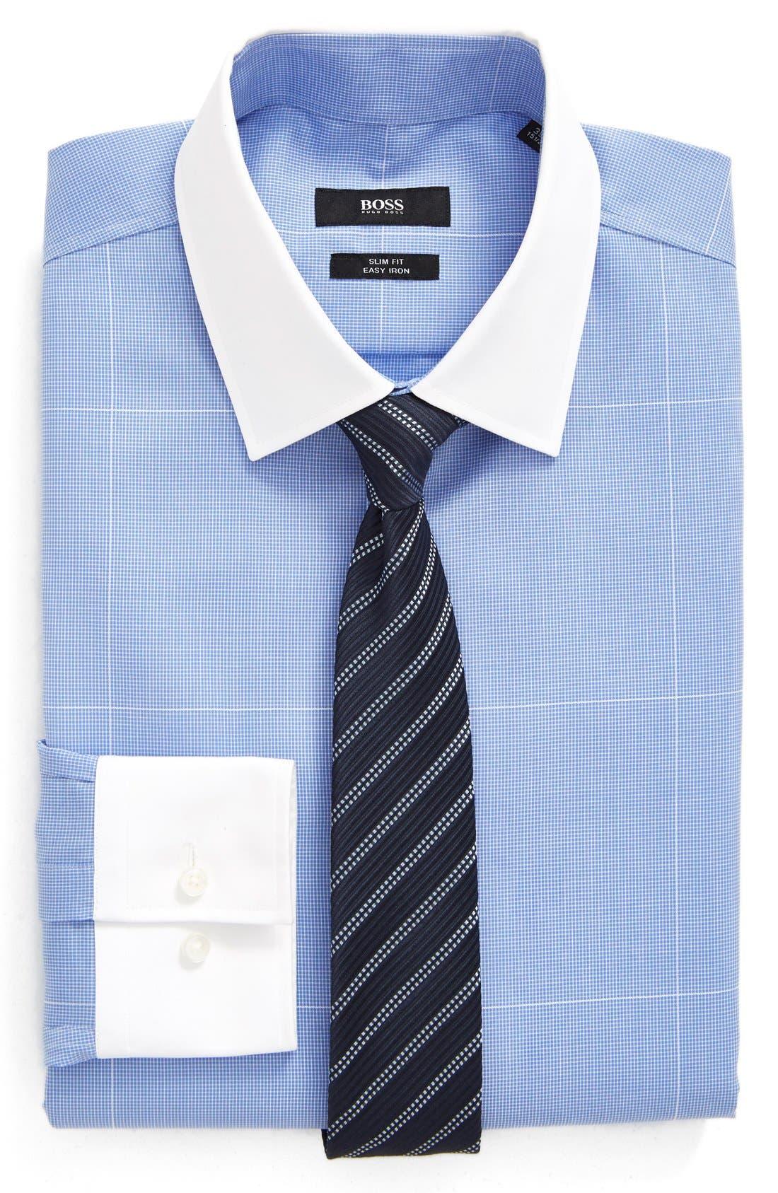 Alternate Image 5  - BOSS WW Slim Fit Easy Iron Check Dress Shirt