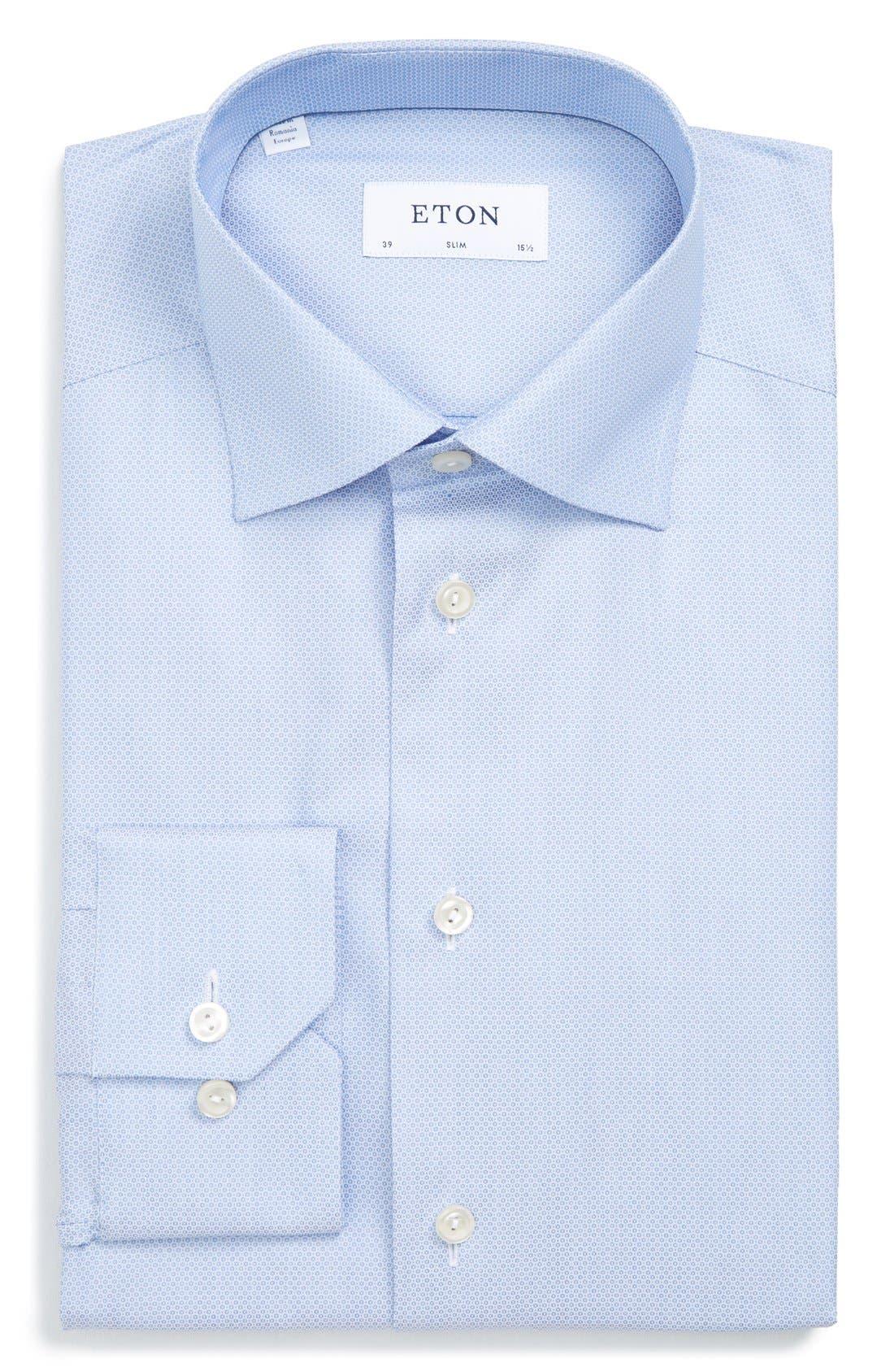 Alternate Image 1 Selected - Eton Slim Fit Dot Dress Shirt