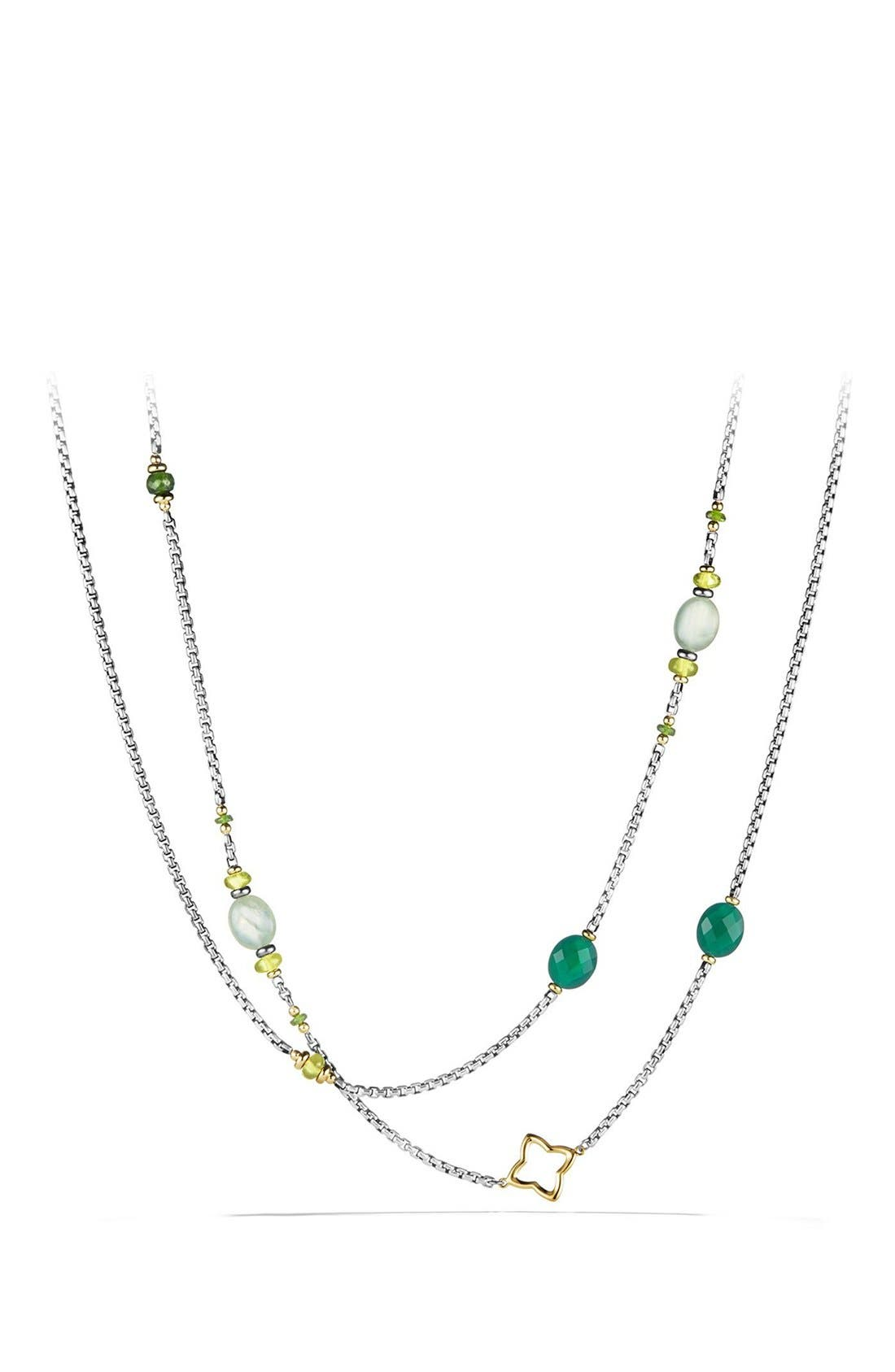 'Bead and Chain' Necklace,                         Main,                         color, Silver/ Gold/ Green Multi