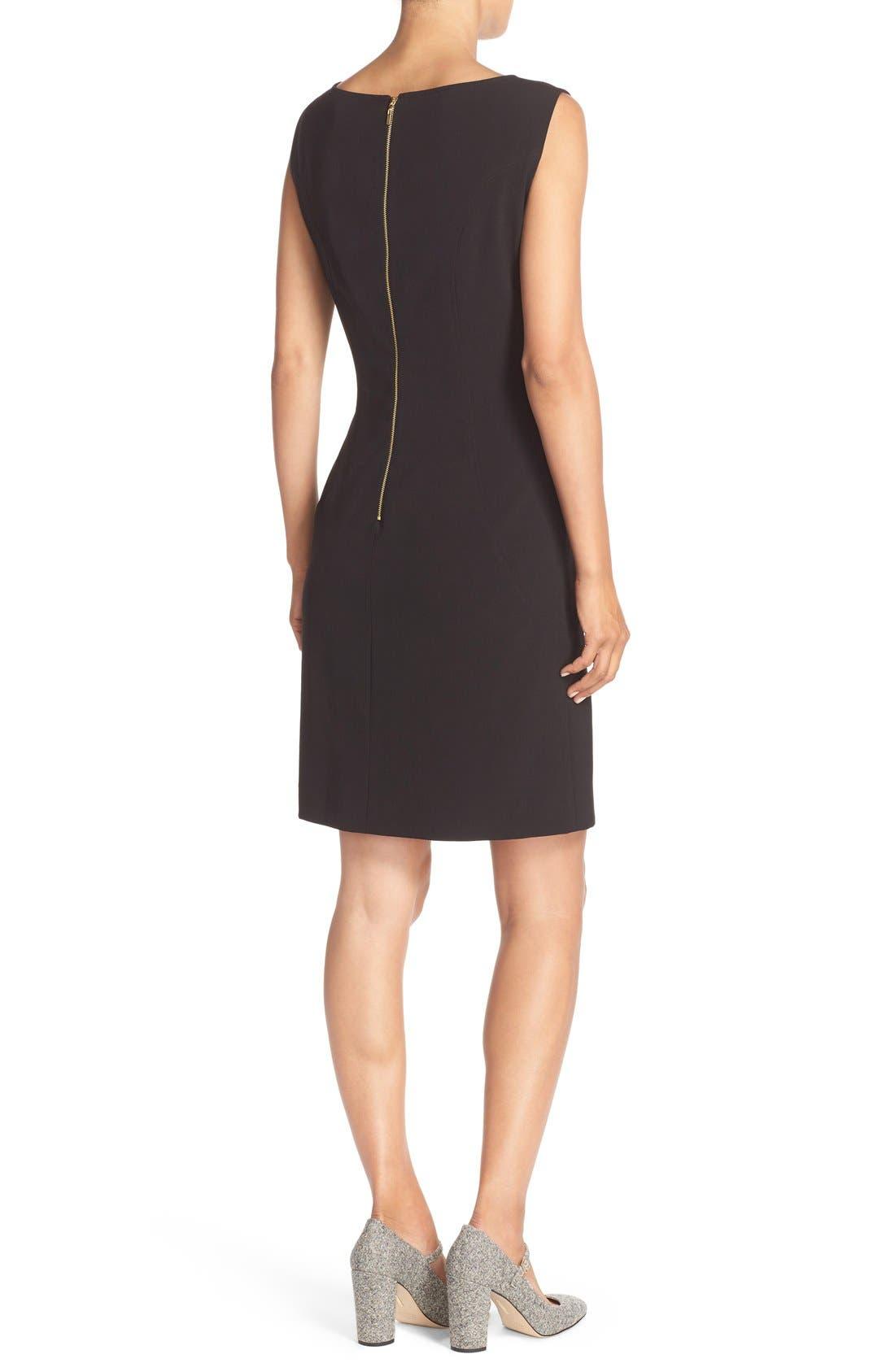 Alternate Image 2  - Tahari Seamed Woven A-Line Dress