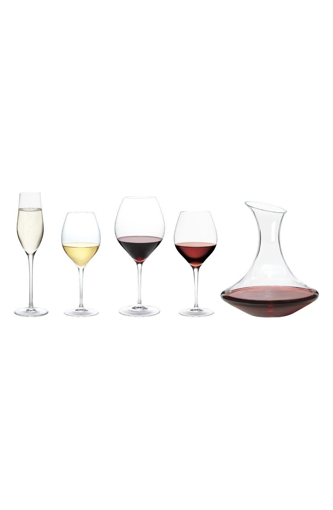 Ravenna Set of 4 Red Wine Glasses,                             Alternate thumbnail 2, color,                             No Color
