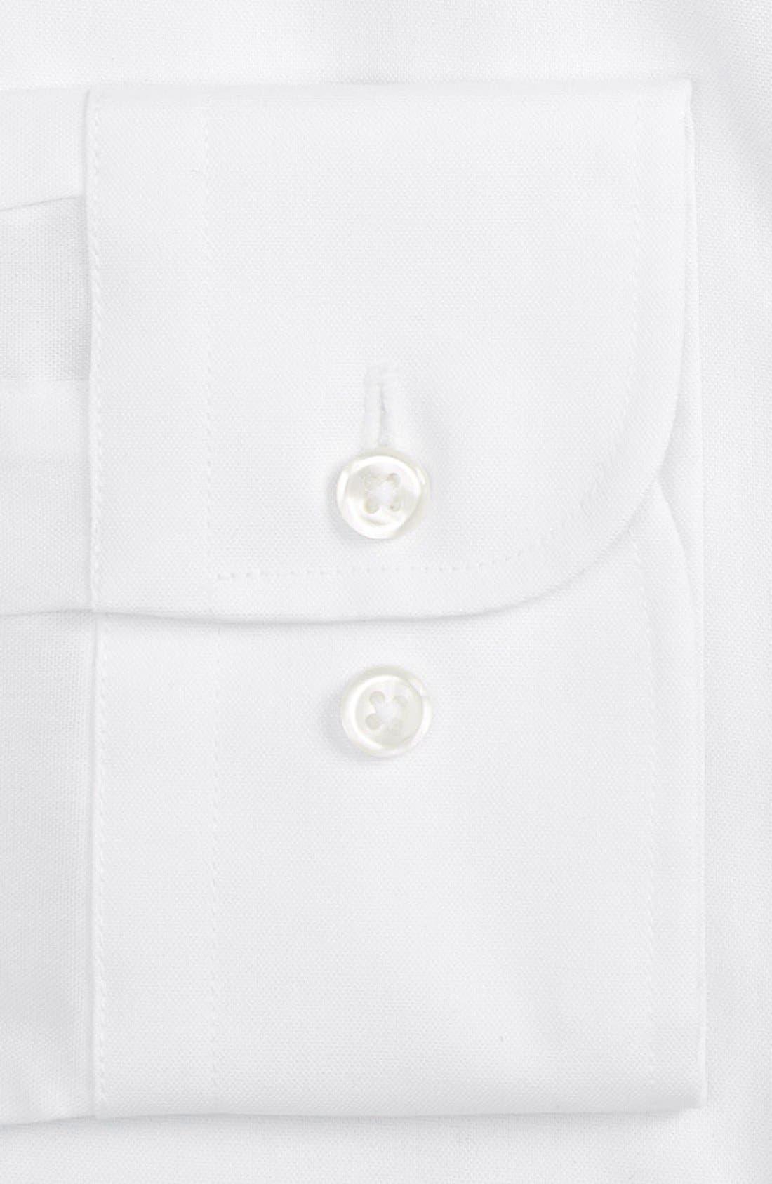 Alternate Image 4  - Nordstrom Men's Shop Extra Trim Fit Non-Iron Solid Dress Shirt
