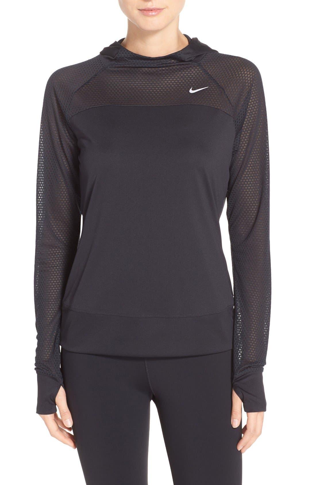Main Image - Nike 'Run Fast' Hooded Dri-FIT Pullover