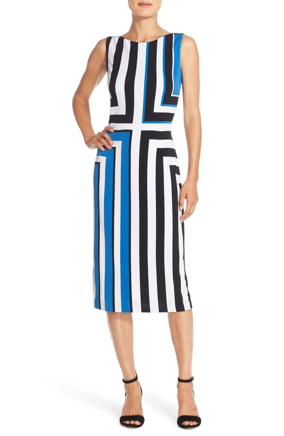 Alternate Image 1 Selected - Maggy London Stripe Jersey Midi Dress