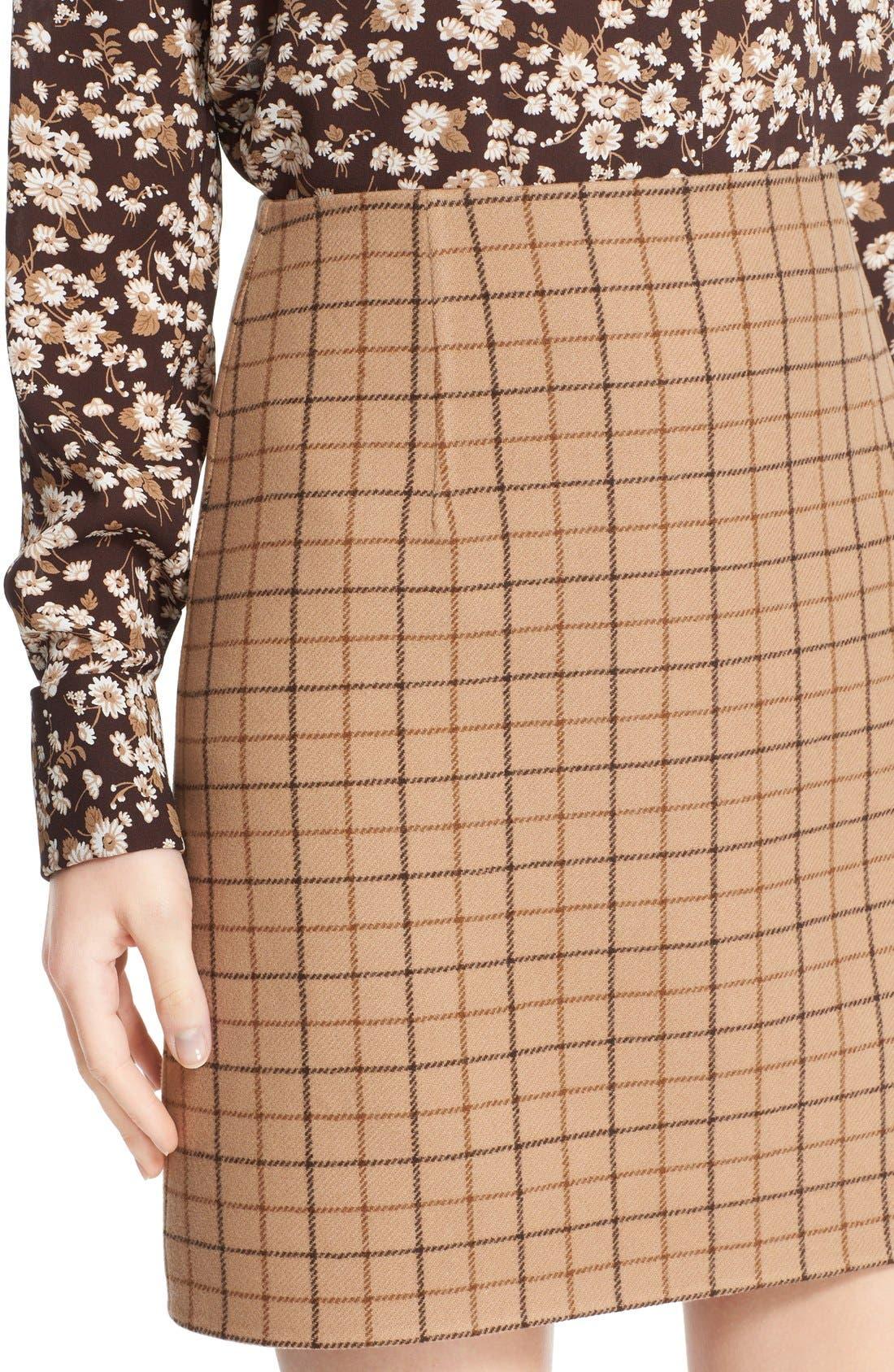 Alternate Image 6  - Michael Kors Plaid Wool A-Line Skirt