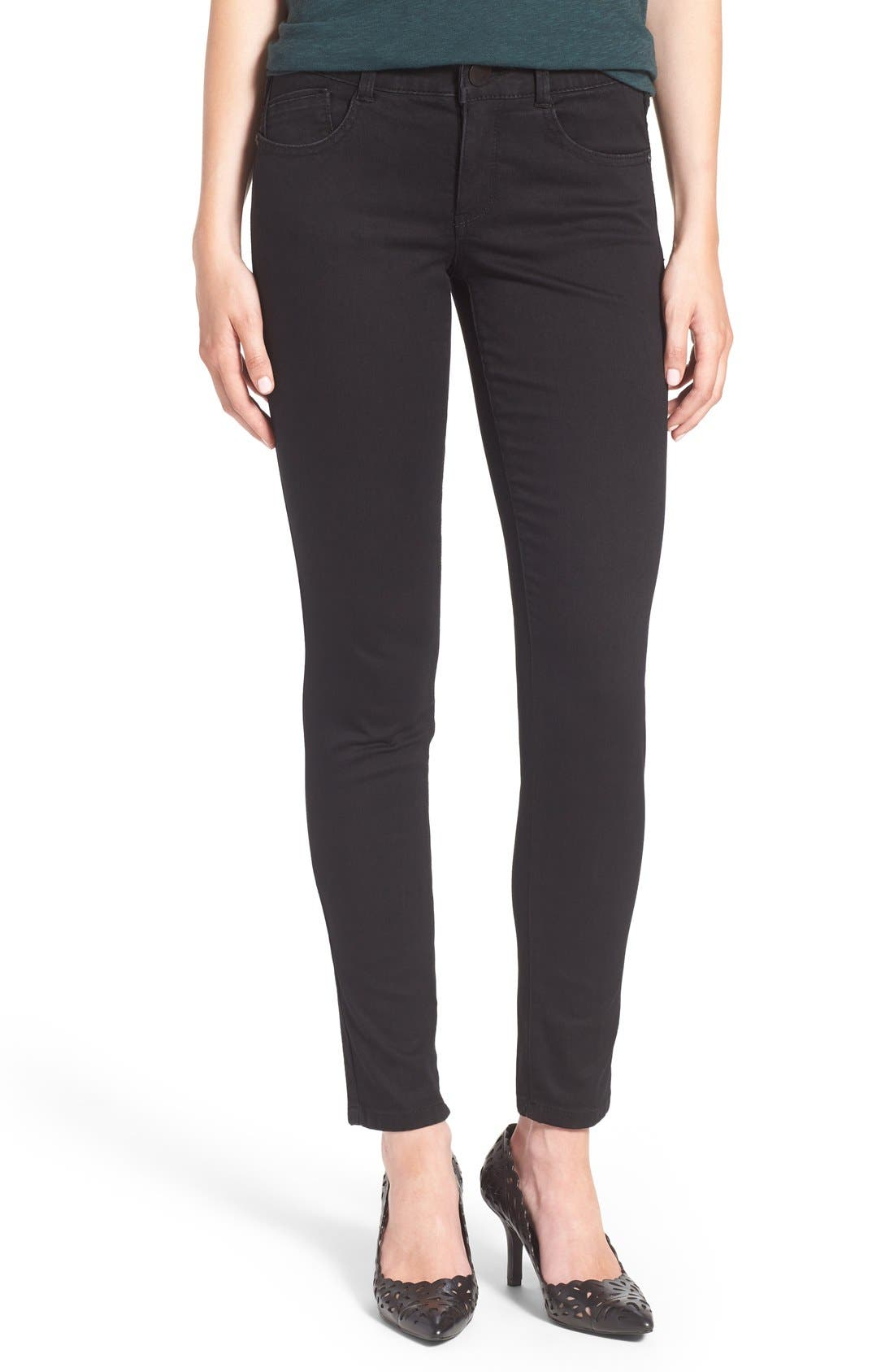 Ab-solution Stretch Skinny Jeans,                             Main thumbnail 1, color,                             Black