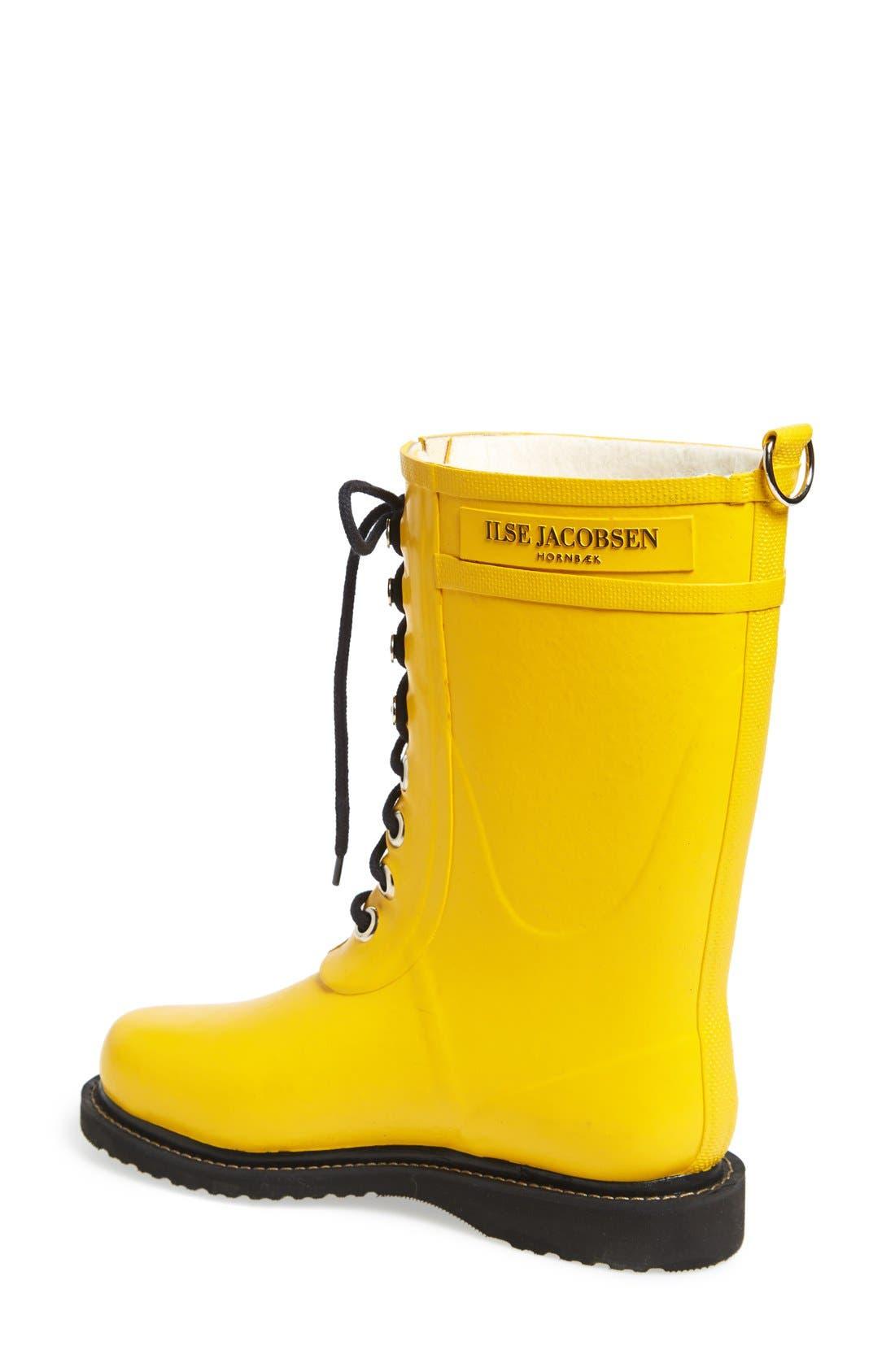 Hornbæk Rubber Boot,                             Alternate thumbnail 2, color,                             Cyber Yellow