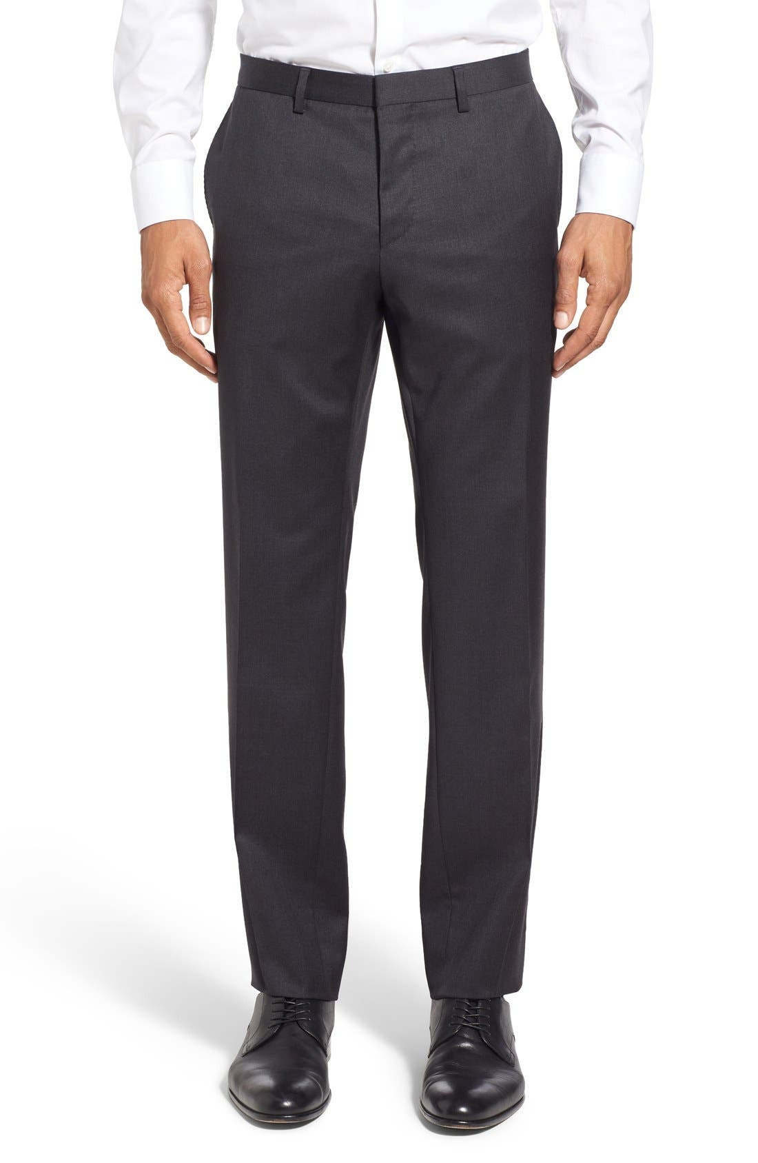 Alternate Image 5  - BOSS 'Ryan/Win' Extra Trim Fit Solid Wool Suit
