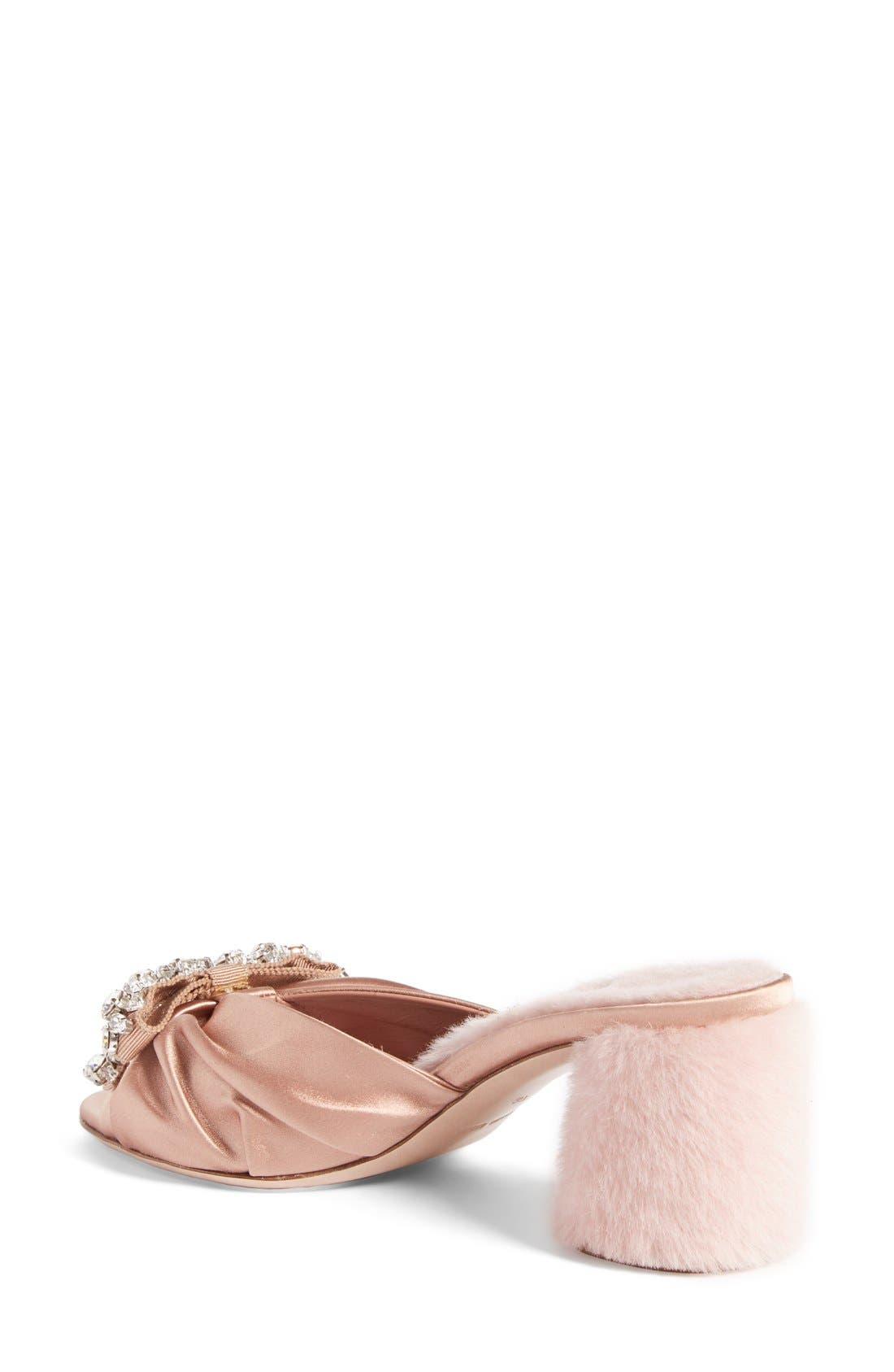 Alternate Image 2  - Miu Miu Crystal Embellished Slide Sandal (Women)