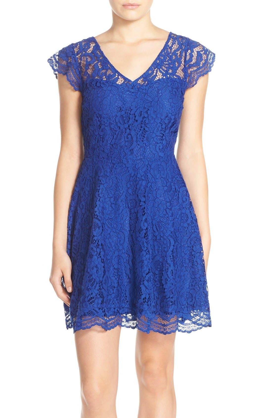 BB DAKOTA Reece Lace Fit & Flare Dress
