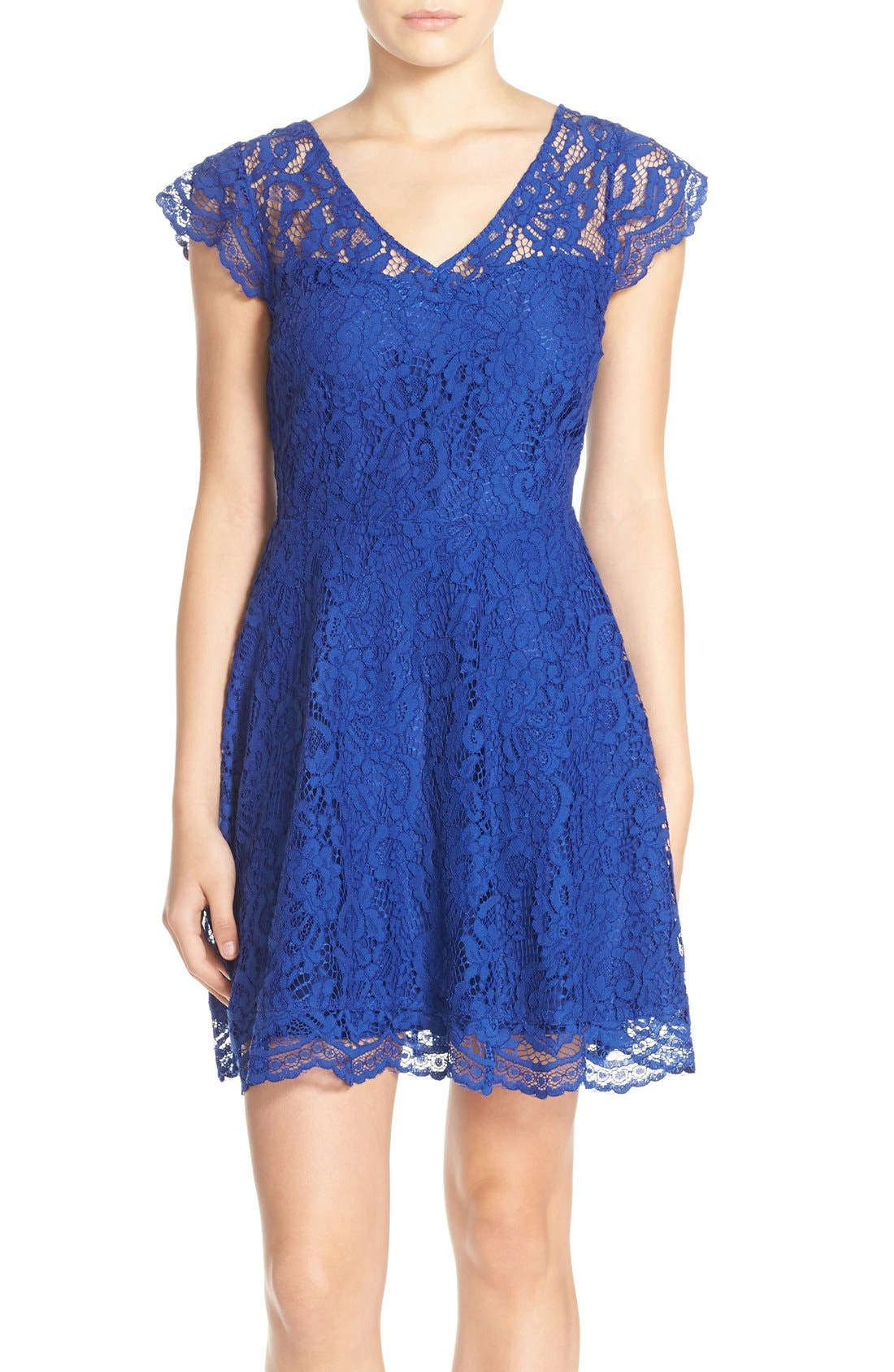 BB Dakota 'Reece' Lace Fit & Flare Dress