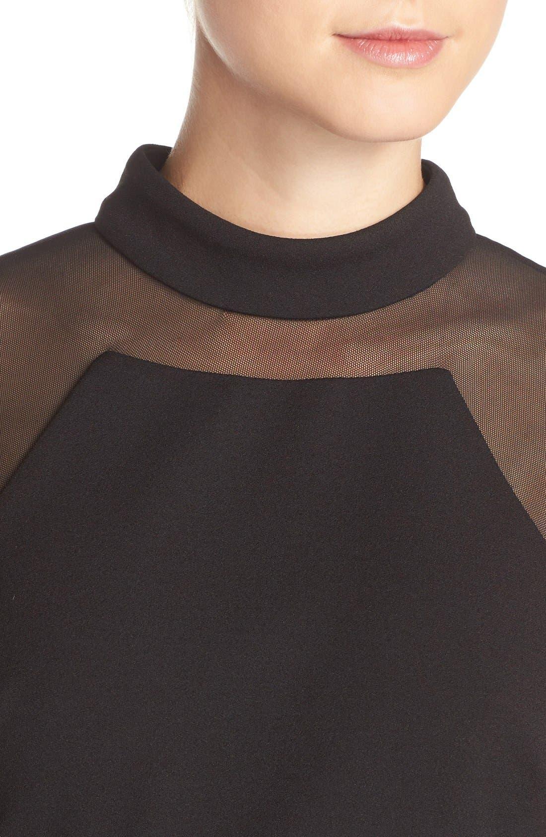 Alternate Image 4  - Vera Wang Illusion Scuba Gown