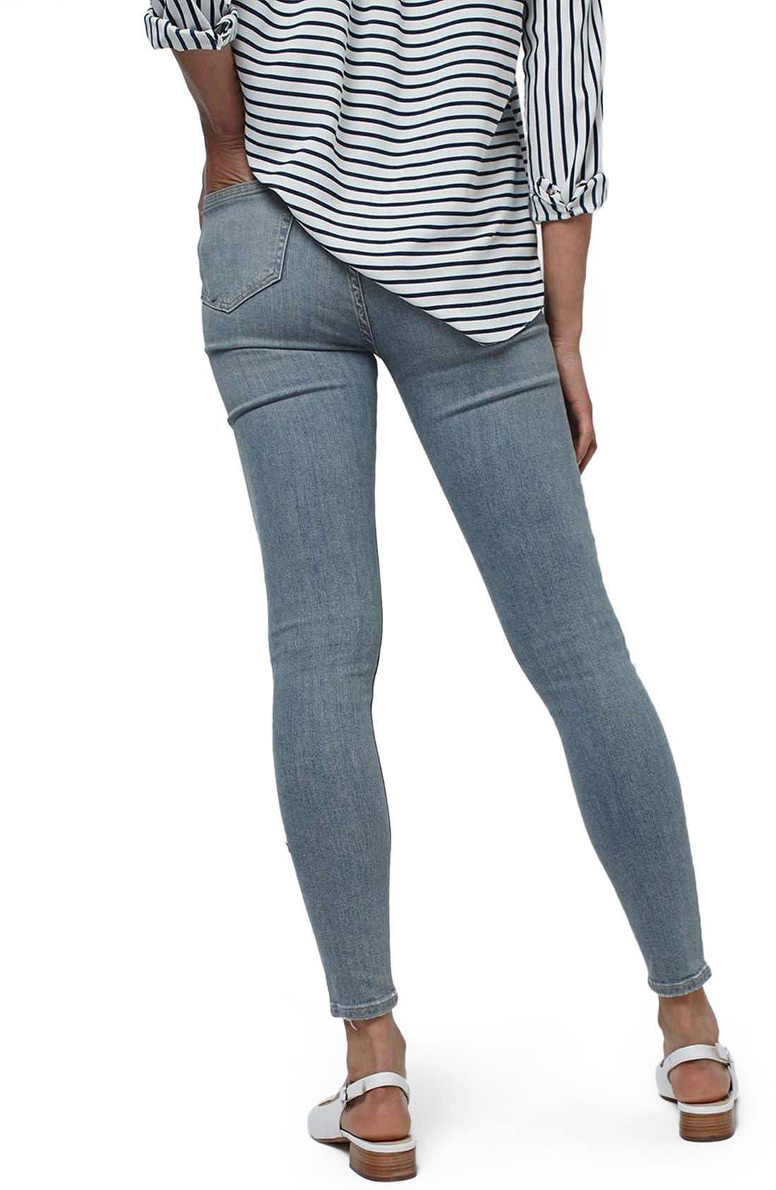 Alternate Image 3  - Topshop 'Jamie' Ripped Bleached Super Skinny Jeans